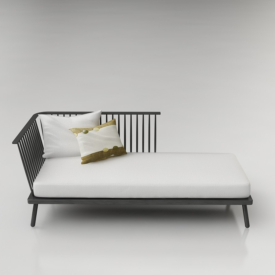 3D Windsor Chaise 3D Model - High Quality 3D Models with regard to Famous West Elm Chaises