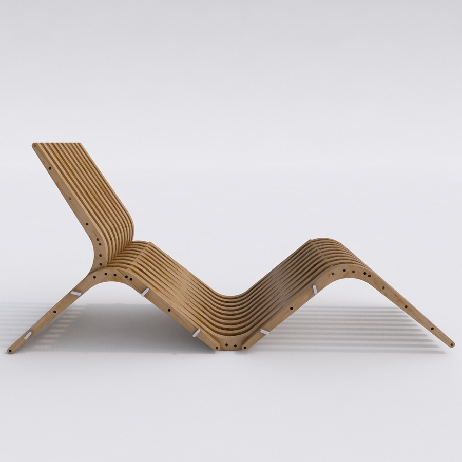 3Docean Throughout 2018 Wood Chaise Lounges (View 2 of 15)