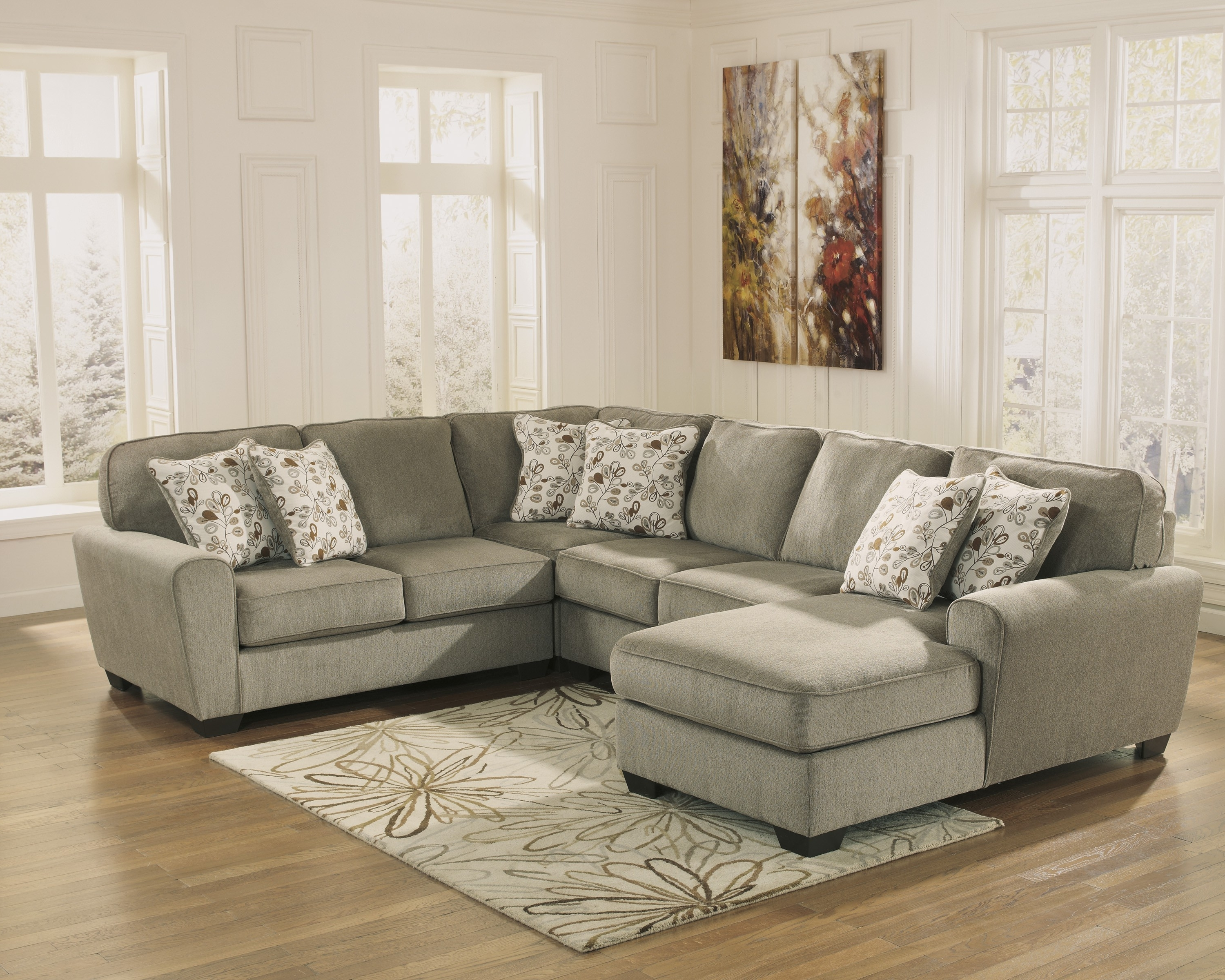 4 Piece Sectional Sofas With Chaise Throughout Latest Patola Park Patina 4 Piece Sectional Set With Left Arm Facing (View 9 of 15)