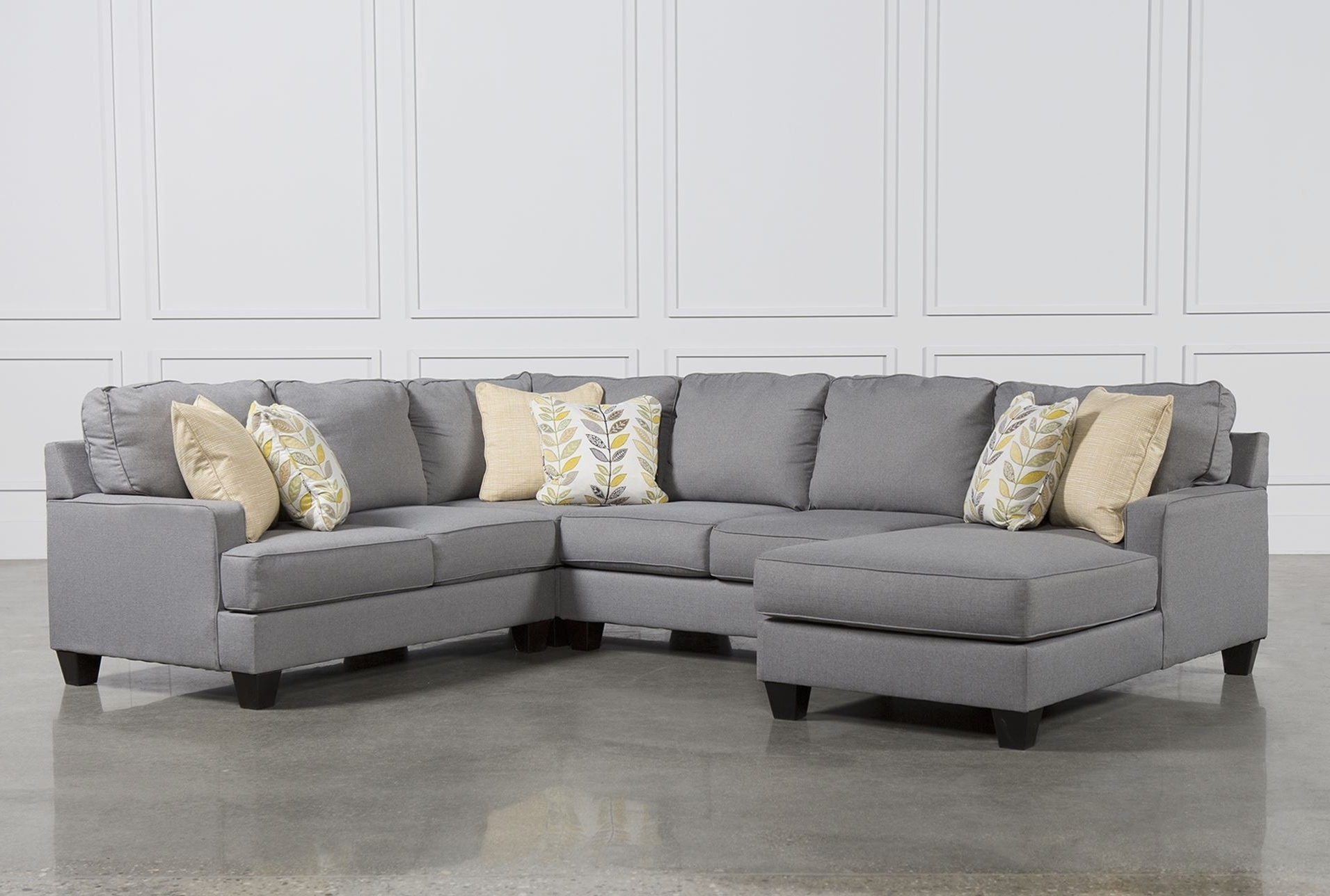 4 Piece Sectional W Armless Sofa Left Chaisebenchcraft In With throughout Most Up-to-Date 4 Piece Sectional Sofas With Chaise