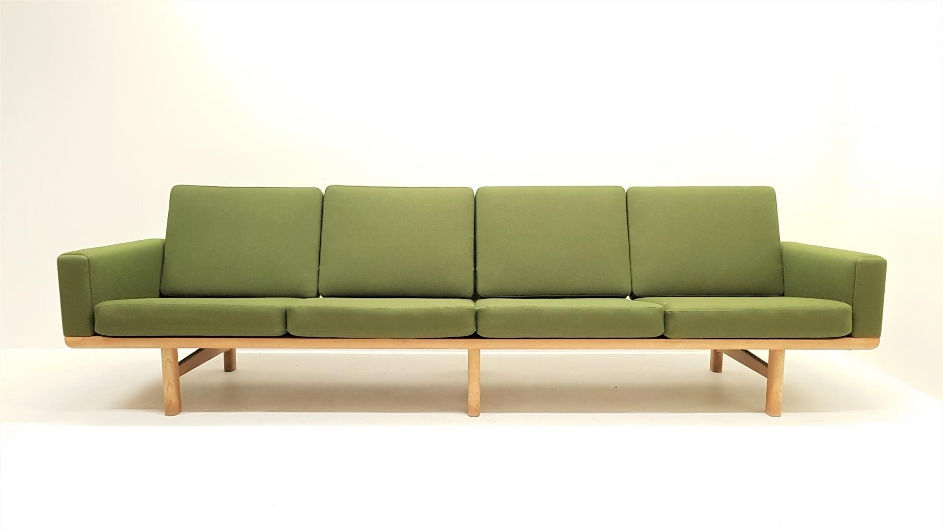 4 Seater Sofas Inside Most Current Mid Century Ge 236/4 4 Seater Sofahans J. Wegner For Getama (Gallery 8 of 15)