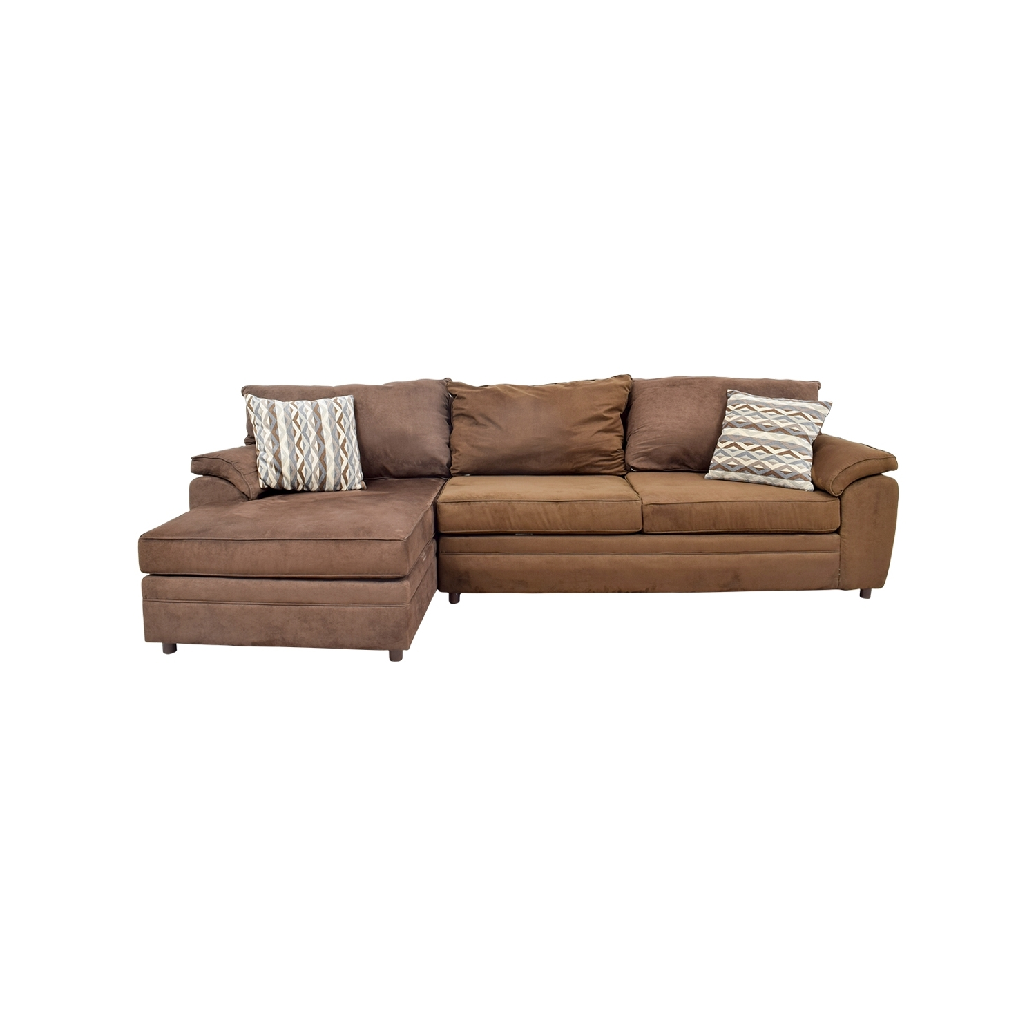 [%46% Off – Bob's Furniture Bob's Furniture Brown Chaise Sectional Intended For Favorite Brown Chaises|Brown Chaises Throughout Preferred 46% Off – Bob's Furniture Bob's Furniture Brown Chaise Sectional|Most Current Brown Chaises Regarding 46% Off – Bob's Furniture Bob's Furniture Brown Chaise Sectional|2018 46% Off – Bob's Furniture Bob's Furniture Brown Chaise Sectional Throughout Brown Chaises%] (View 15 of 15)
