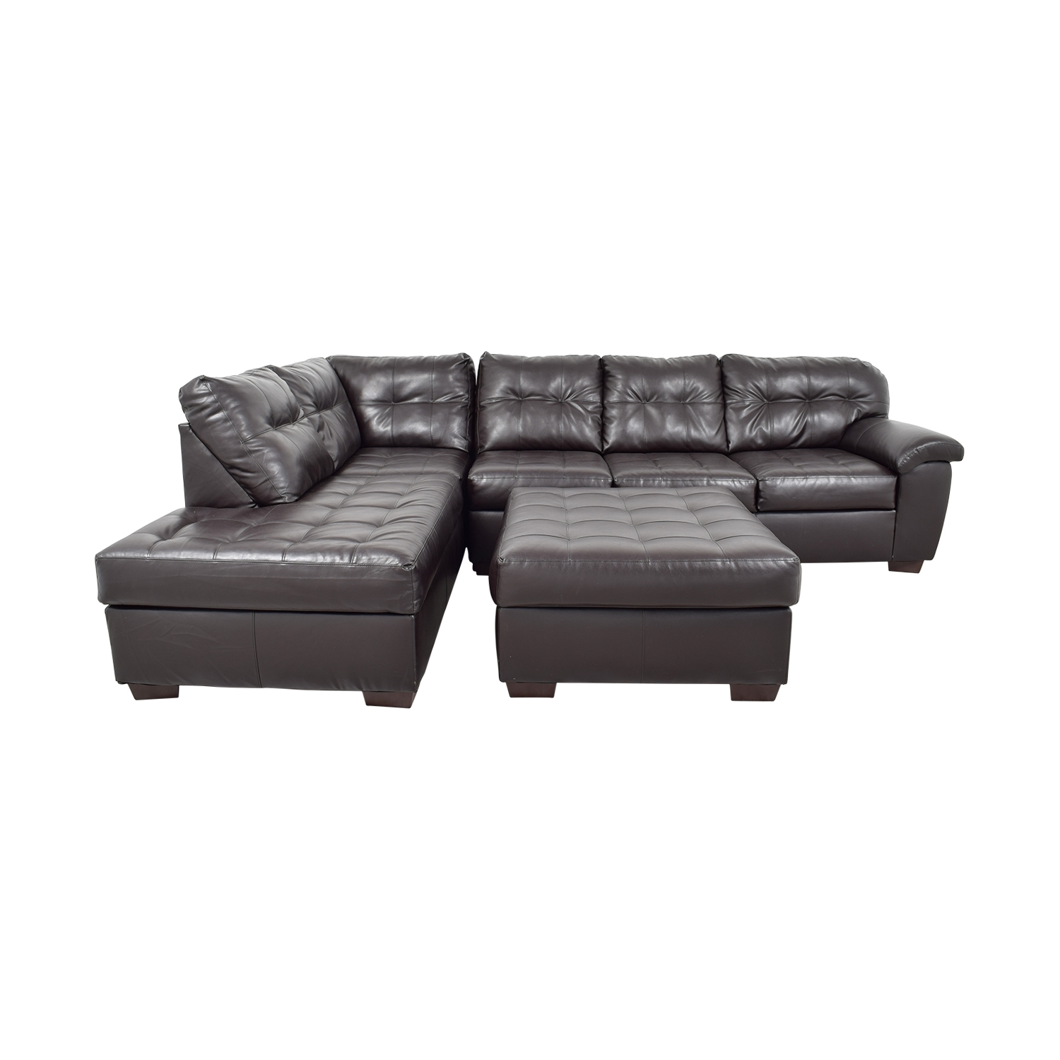 [%47% Off – Simmons Simmons Brown Leather Sectional With Ottoman / Sofas Pertaining To Favorite Simmons Chaise Sofas|Simmons Chaise Sofas In Well Known 47% Off – Simmons Simmons Brown Leather Sectional With Ottoman / Sofas|Trendy Simmons Chaise Sofas For 47% Off – Simmons Simmons Brown Leather Sectional With Ottoman / Sofas|Fashionable 47% Off – Simmons Simmons Brown Leather Sectional With Ottoman / Sofas Intended For Simmons Chaise Sofas%] (View 1 of 15)