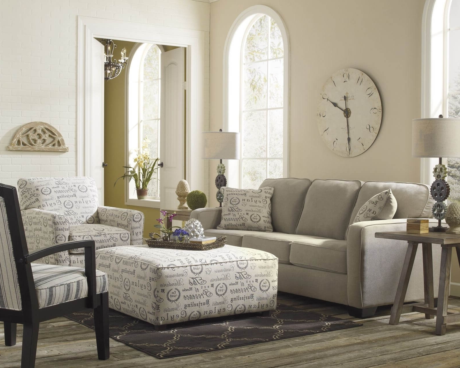 50 Beautiful Living Rooms With Ottoman Coffee Tables Regarding Current Sofas With Ottoman (View 1 of 15)