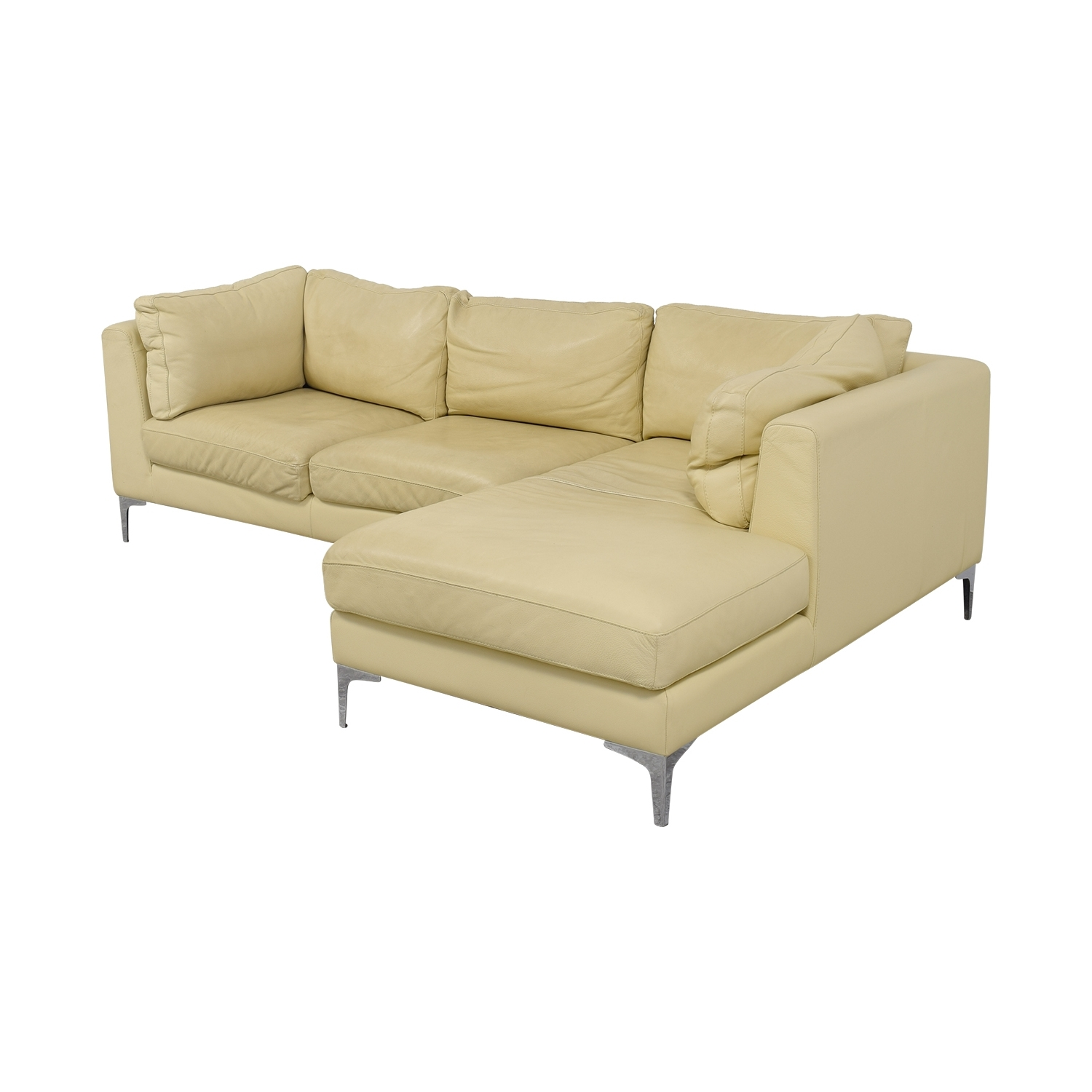 [%51% Off – Design Within Reach Design Within Reach Cream Leather Intended For Most Up To Date Cream Chaise Sofas|Cream Chaise Sofas Regarding Well Liked 51% Off – Design Within Reach Design Within Reach Cream Leather|Current Cream Chaise Sofas Throughout 51% Off – Design Within Reach Design Within Reach Cream Leather|Most Up To Date 51% Off – Design Within Reach Design Within Reach Cream Leather Inside Cream Chaise Sofas%] (View 5 of 15)
