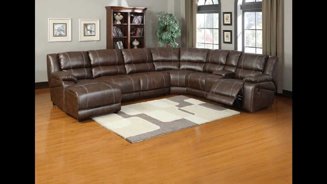 6 Pc Miller Saddle Brown Bonded Leather Sectional Sofa With within Most Up-to-Date 6 Piece Leather Sectional Sofas
