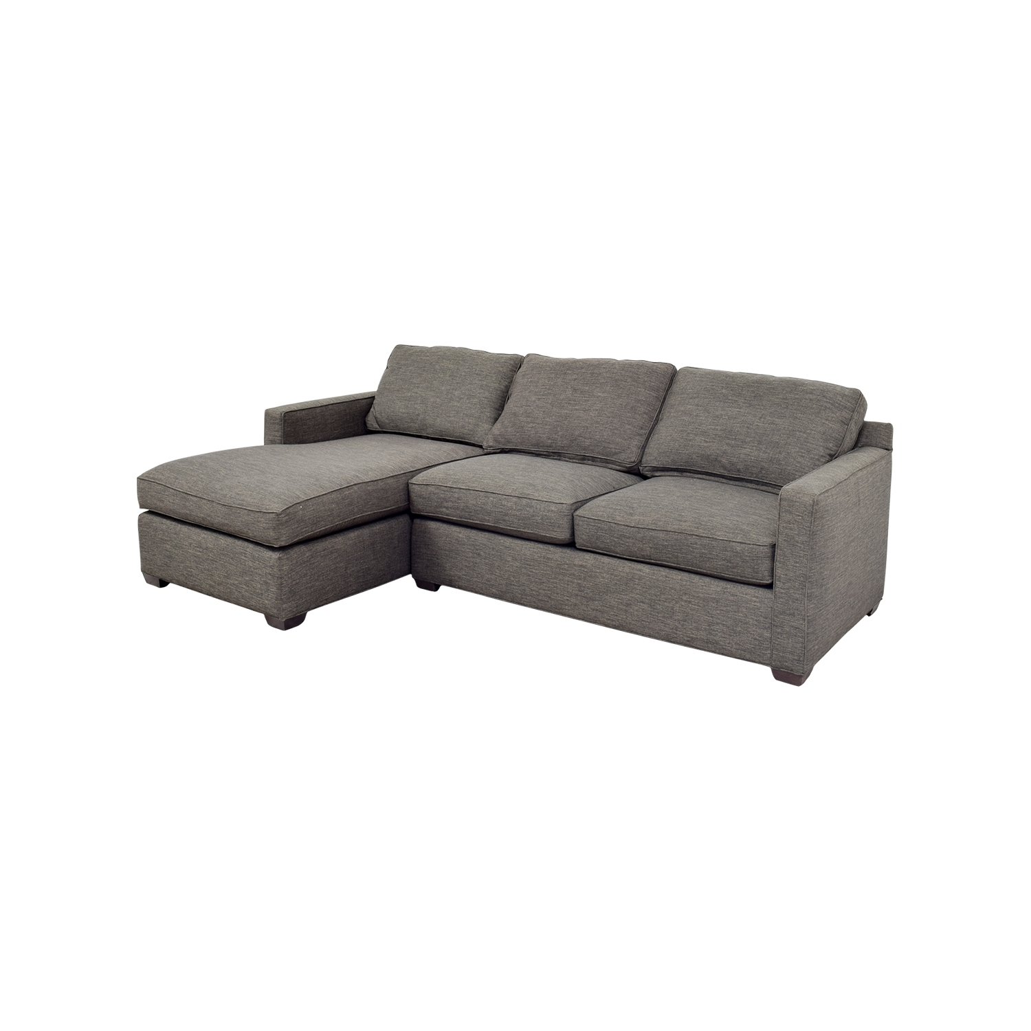 [%63% Off – Crate And Barrel Crate & Barrel Davis Grey Chaise Throughout 2017 Grey Chaise Sofas|Grey Chaise Sofas With Most Recently Released 63% Off – Crate And Barrel Crate & Barrel Davis Grey Chaise|Current Grey Chaise Sofas With Regard To 63% Off – Crate And Barrel Crate & Barrel Davis Grey Chaise|Preferred 63% Off – Crate And Barrel Crate & Barrel Davis Grey Chaise Within Grey Chaise Sofas%] (View 14 of 15)