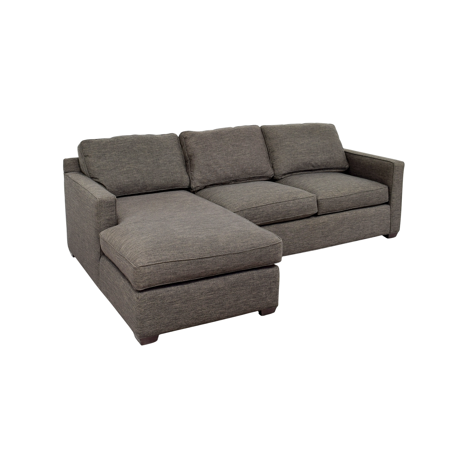 [%63% Off – Crate And Barrel Crate & Barrel Davis Grey Chaise With Regard To Popular Grey Chaise Sectionals|Grey Chaise Sectionals With Regard To Favorite 63% Off – Crate And Barrel Crate & Barrel Davis Grey Chaise|2017 Grey Chaise Sectionals Inside 63% Off – Crate And Barrel Crate & Barrel Davis Grey Chaise|Latest 63% Off – Crate And Barrel Crate & Barrel Davis Grey Chaise Intended For Grey Chaise Sectionals%] (View 9 of 15)