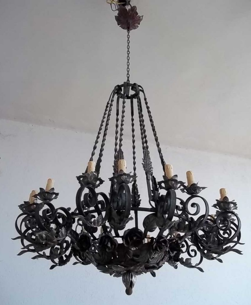 65 Great Superior Breathtaking Large Wrought Iron Chandeliers Rustic For Favorite Black Gothic Chandelier (Gallery 14 of 15)