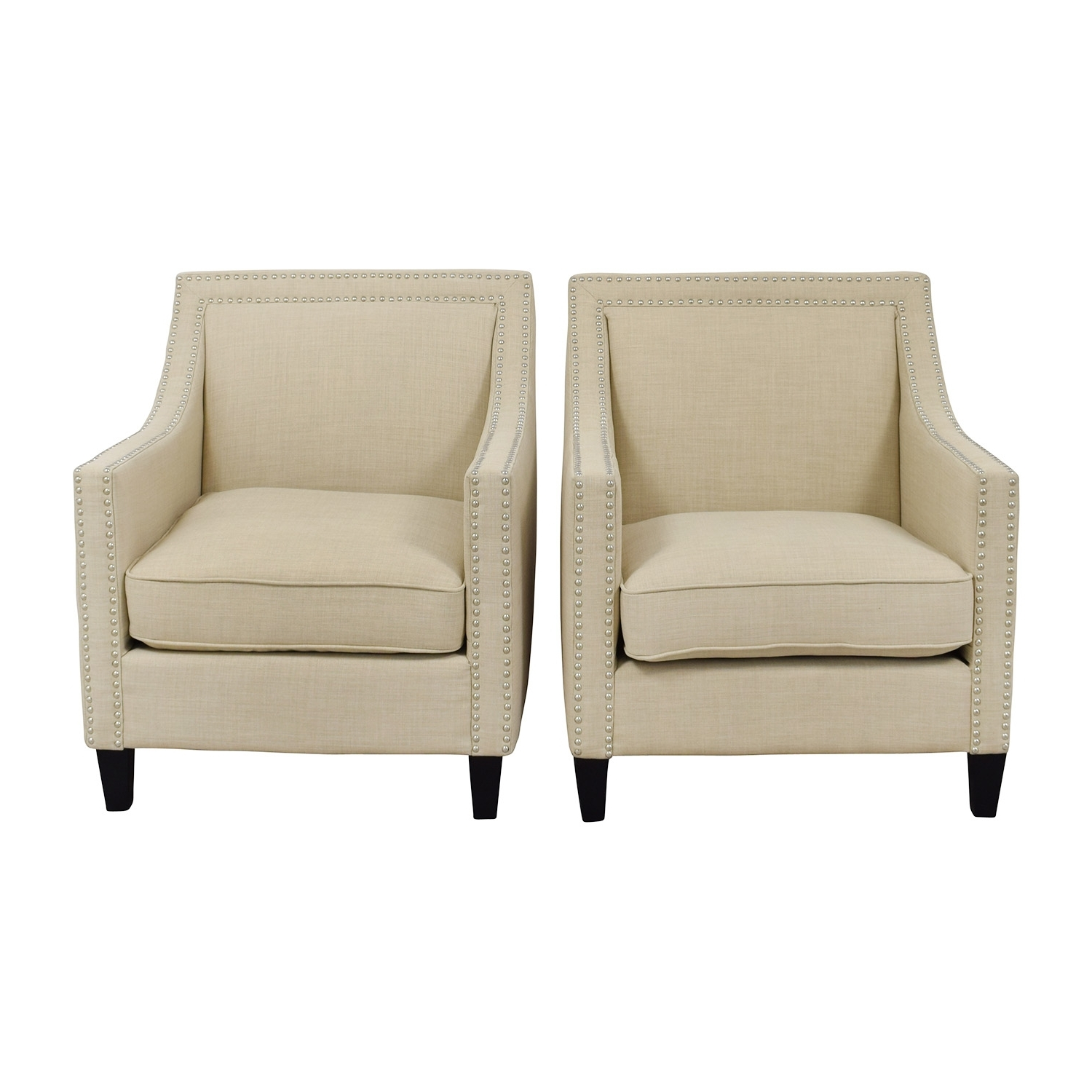 [%67% Off – Studded Beige Sofa Arm Chairs / Chairs Pertaining To Widely Used Sofa Arm Chairs|Sofa Arm Chairs In Newest 67% Off – Studded Beige Sofa Arm Chairs / Chairs|Famous Sofa Arm Chairs Regarding 67% Off – Studded Beige Sofa Arm Chairs / Chairs|Popular 67% Off – Studded Beige Sofa Arm Chairs / Chairs Regarding Sofa Arm Chairs%] (View 1 of 15)