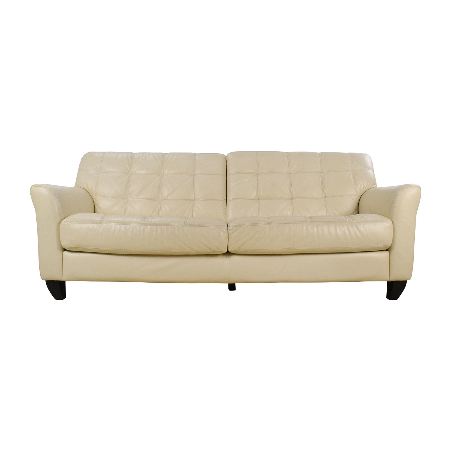 [%68% Off – Macy's Macy's Milan White Leather Couch / Sofas With Well Known Off White Leather Sofas|Off White Leather Sofas Pertaining To Most Current 68% Off – Macy's Macy's Milan White Leather Couch / Sofas|Most Current Off White Leather Sofas In 68% Off – Macy's Macy's Milan White Leather Couch / Sofas|Well Liked 68% Off – Macy's Macy's Milan White Leather Couch / Sofas Throughout Off White Leather Sofas%] (View 1 of 15)