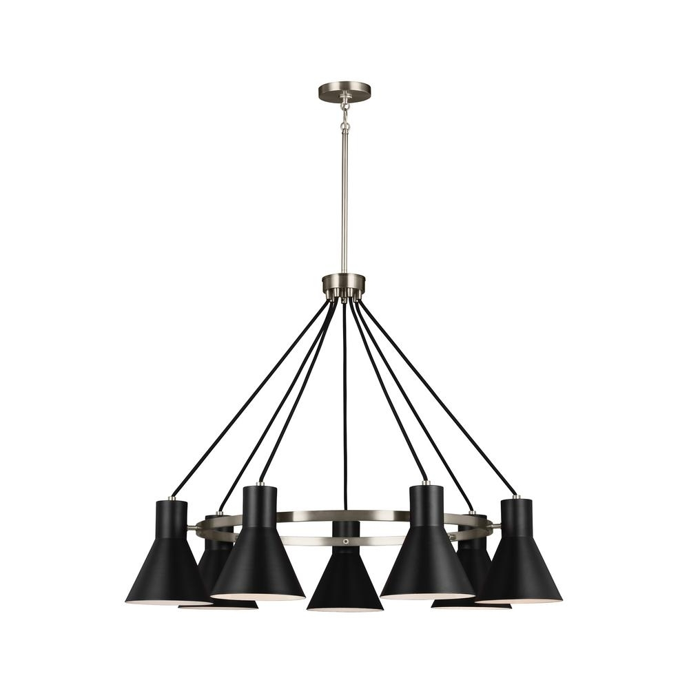 7 Light Chandeliers For Best And Newest Sea Gull Lighting Towner 7 Light Brushed Nickel Chandelier 3141307 (Gallery 15 of 15)