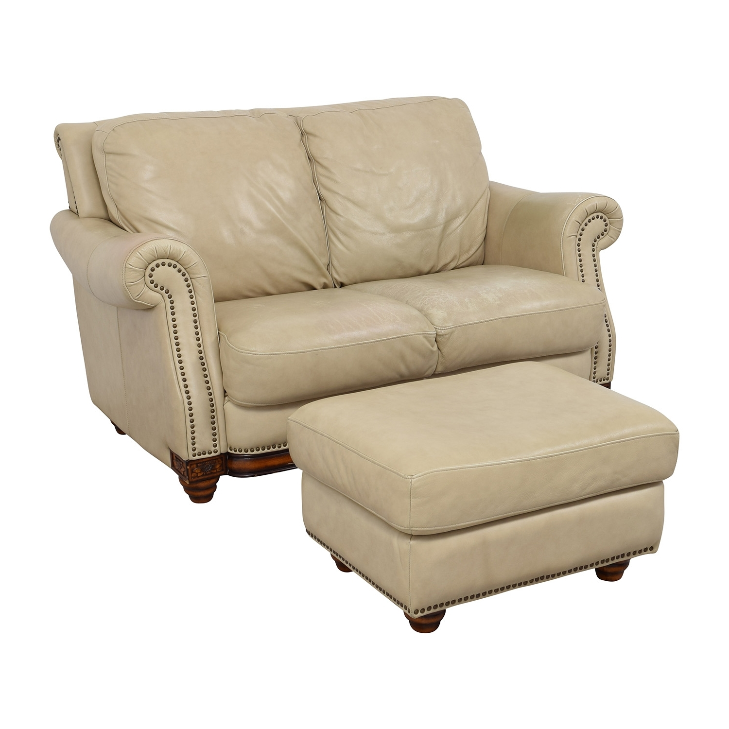[%74% Off – Raymour & Flanigan Raymour & Flanigan Studded Tan With Regard To 2018 Loveseats With Ottoman|Loveseats With Ottoman Pertaining To Most Recently Released 74% Off – Raymour & Flanigan Raymour & Flanigan Studded Tan|Fashionable Loveseats With Ottoman In 74% Off – Raymour & Flanigan Raymour & Flanigan Studded Tan|Fashionable 74% Off – Raymour & Flanigan Raymour & Flanigan Studded Tan For Loveseats With Ottoman%] (View 8 of 15)