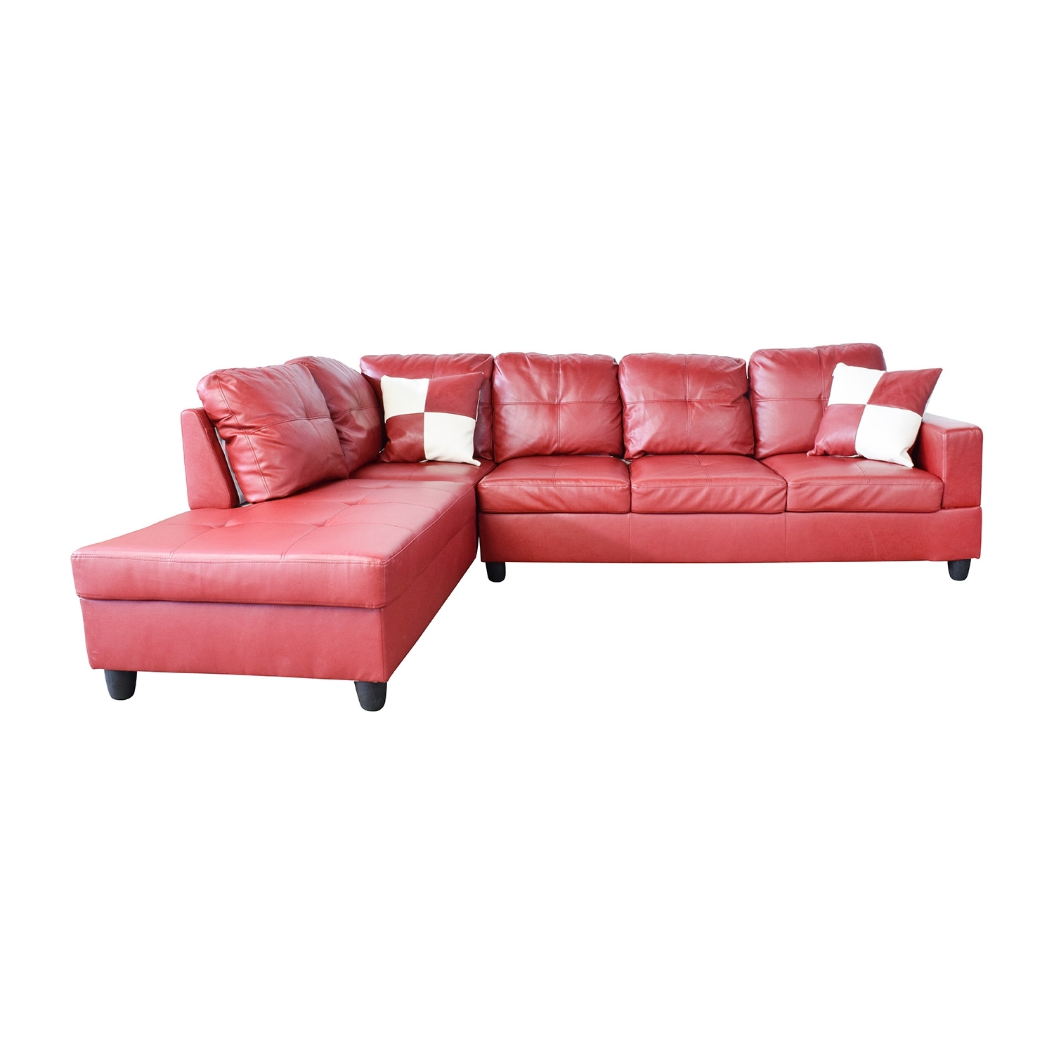 [%76% Off – Beverly Furniture Beverly Furniture Red Faux Leather With Regard To Most Recent Red Faux Leather Sectionals|Red Faux Leather Sectionals With Preferred 76% Off – Beverly Furniture Beverly Furniture Red Faux Leather|Current Red Faux Leather Sectionals Within 76% Off – Beverly Furniture Beverly Furniture Red Faux Leather|Trendy 76% Off – Beverly Furniture Beverly Furniture Red Faux Leather Intended For Red Faux Leather Sectionals%] (View 10 of 15)