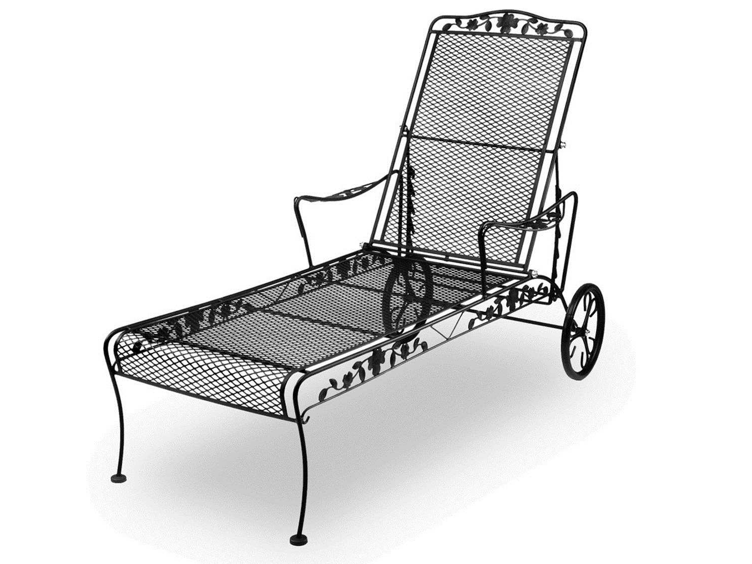 7615400-01 inside Wrought Iron Chaise Lounges