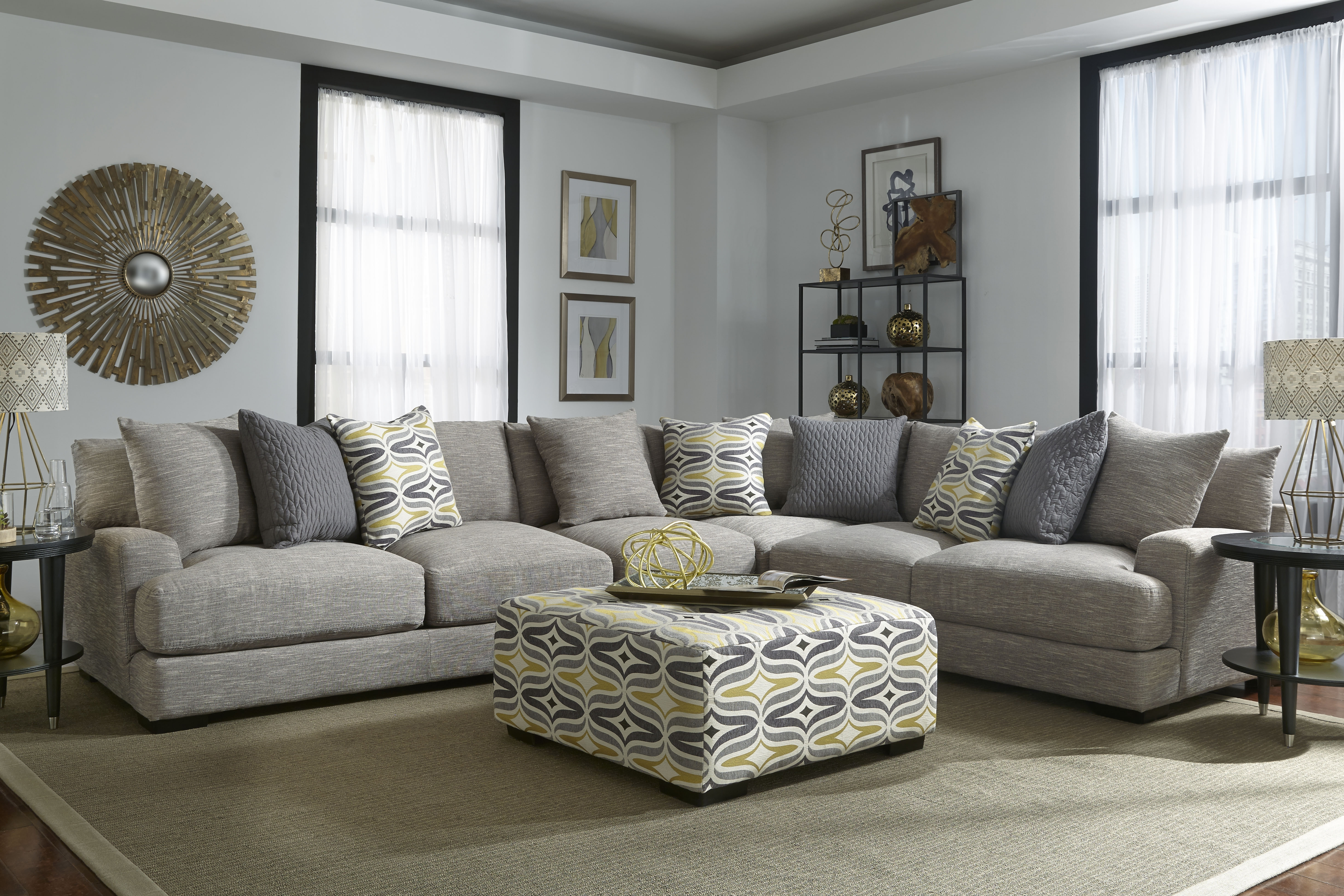 808 Barton Stationary Sectional – Franklin Furniture Product Throughout Latest Kansas City Sectional Sofas (View 4 of 15)