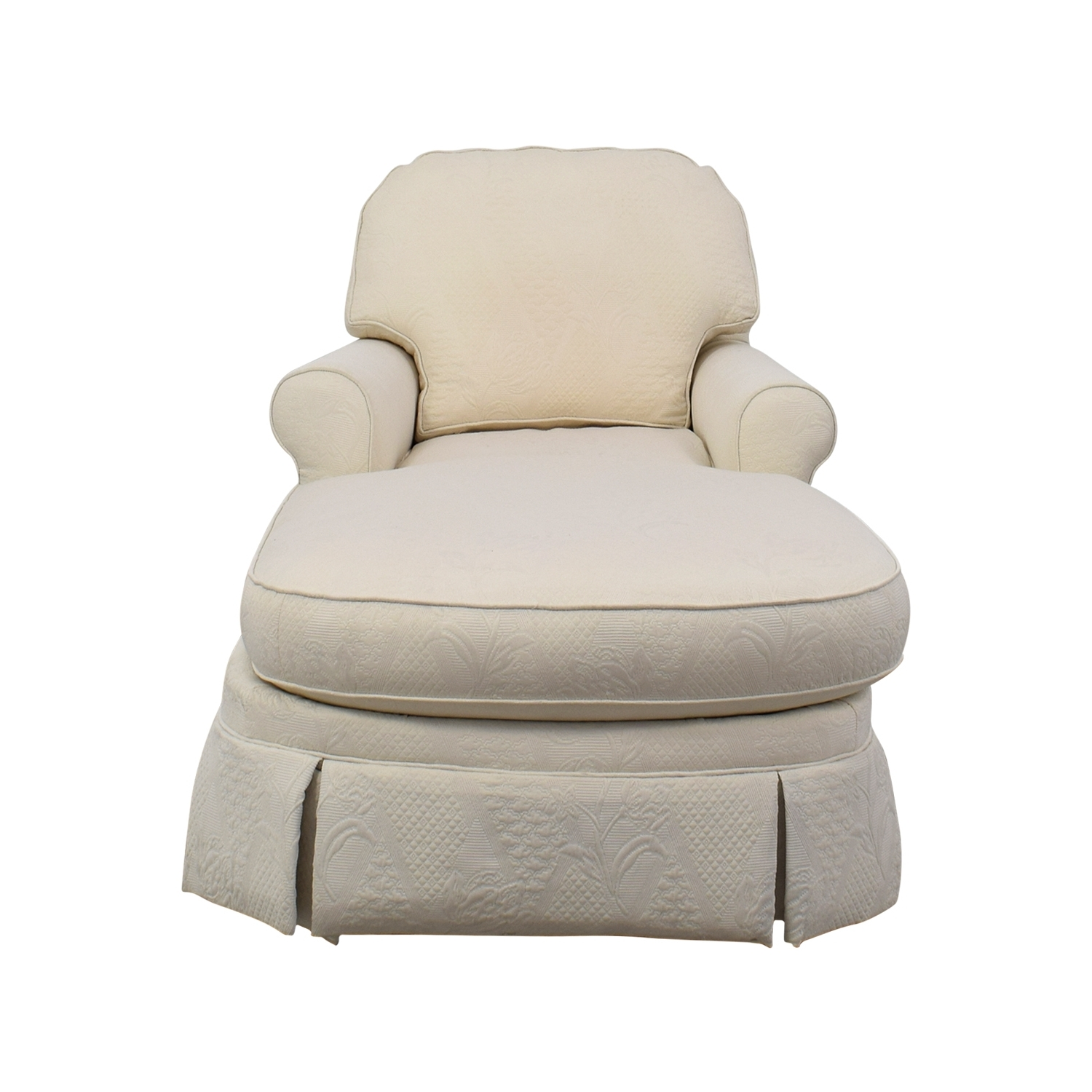 [%85% Off – Ethan Allen Ethan Allen Victoria White Chaise Lounge / Sofas In 2018 White Chaises|White Chaises Inside Latest 85% Off – Ethan Allen Ethan Allen Victoria White Chaise Lounge / Sofas|Most Popular White Chaises Within 85% Off – Ethan Allen Ethan Allen Victoria White Chaise Lounge / Sofas|Popular 85% Off – Ethan Allen Ethan Allen Victoria White Chaise Lounge / Sofas Intended For White Chaises%] (View 7 of 15)