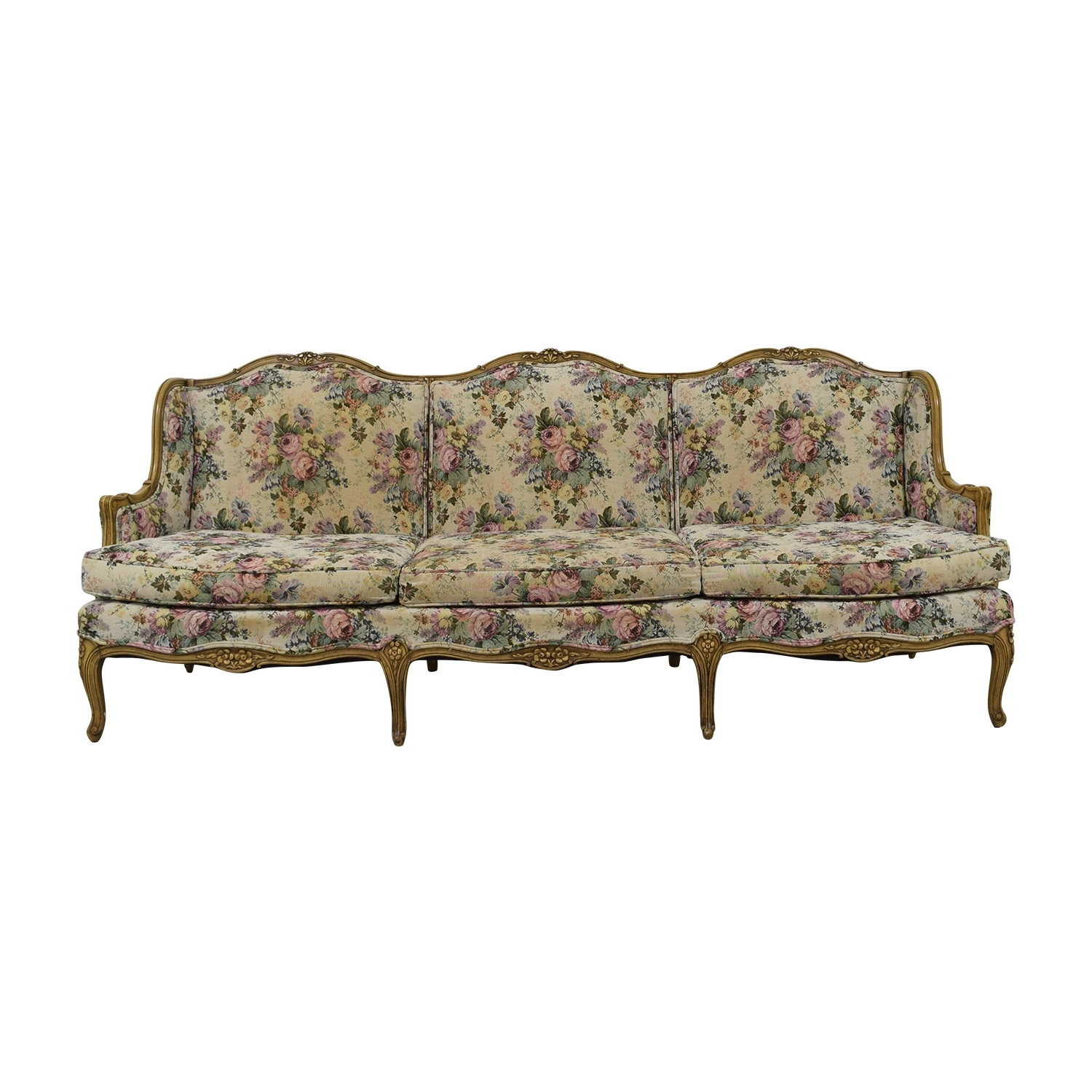 [%86% Off – Vintage Floral Sofa / Sofas Pertaining To Fashionable Vintage Sofas|Vintage Sofas Inside Favorite 86% Off – Vintage Floral Sofa / Sofas|Popular Vintage Sofas Regarding 86% Off – Vintage Floral Sofa / Sofas|Famous 86% Off – Vintage Floral Sofa / Sofas Regarding Vintage Sofas%] (View 8 of 15)