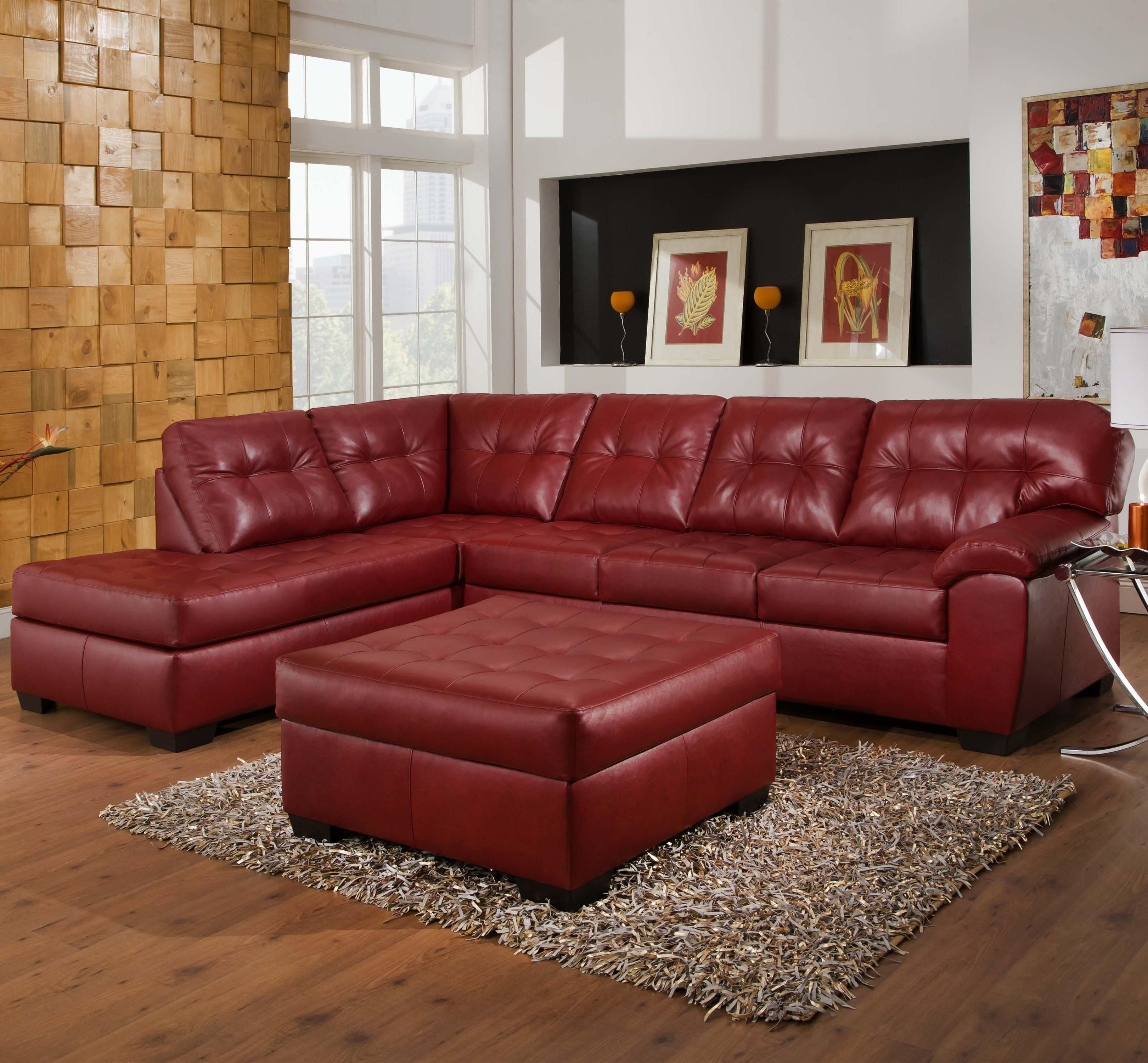 9569 2 Piece Sectional With Tufted Seats & Backsimmons With Regard To Most Popular Ivan Smith Sectional Sofas (View 5 of 15)