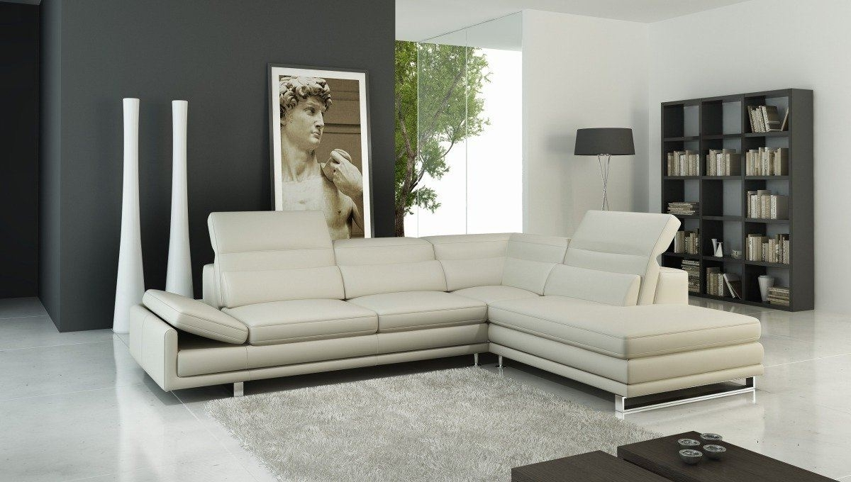 A 958 Modern Sectional Italian Leather Sofa Off White In Most Popular Off White Leather Sofas (View 13 of 15)