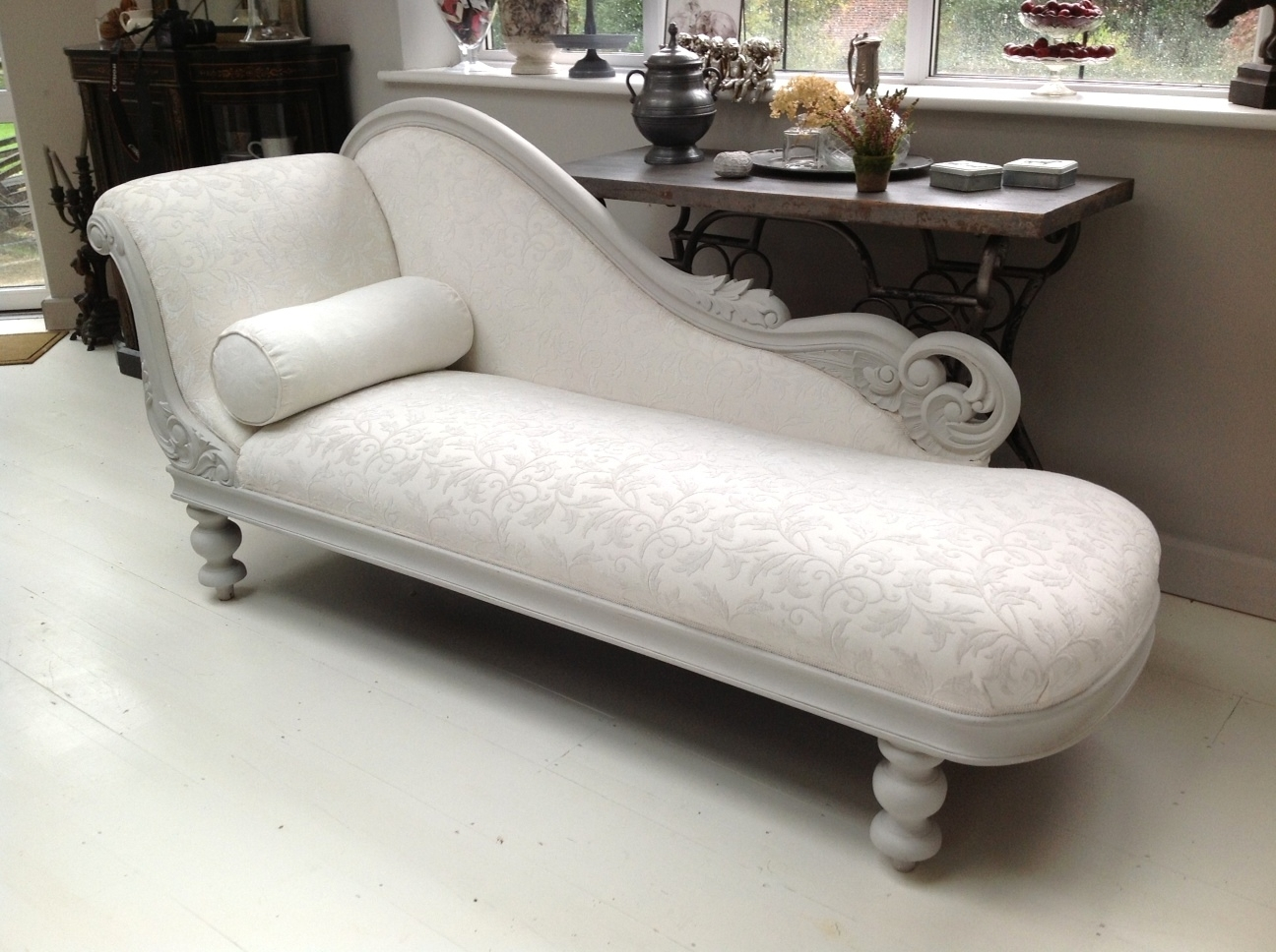 A Dazzling Chaise Longue, Painted In Annie Sloan™ Chalk Paint Pertaining To 2017 Damask Chaise Lounge Chairs (View 3 of 15)