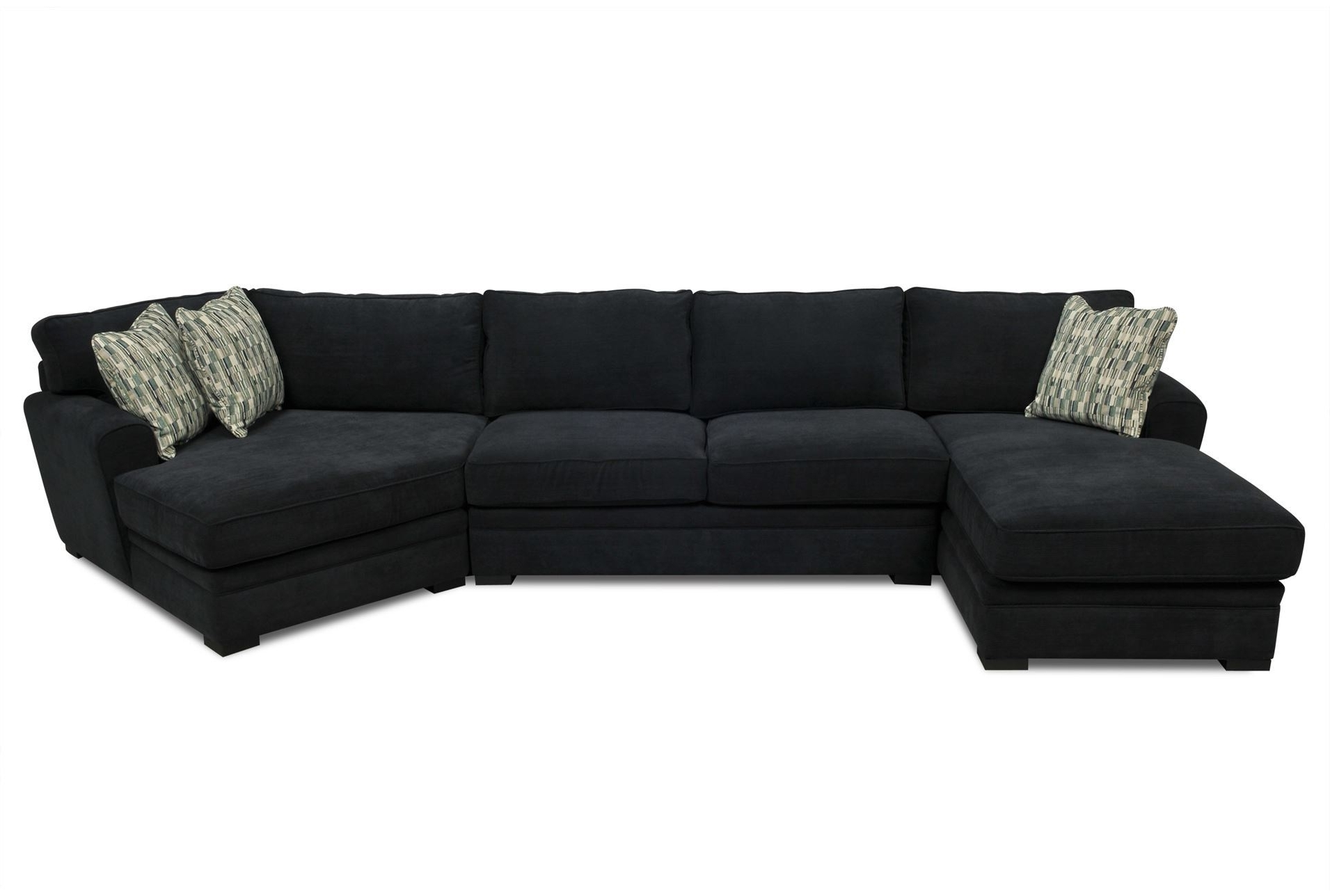 """Aaron 3 Piece Sectional  Large View 121 Dimensions: 166""""w X 67""""d X With Regard To Well Known Living Spaces Sectional Sofas (View 9 of 15)"""