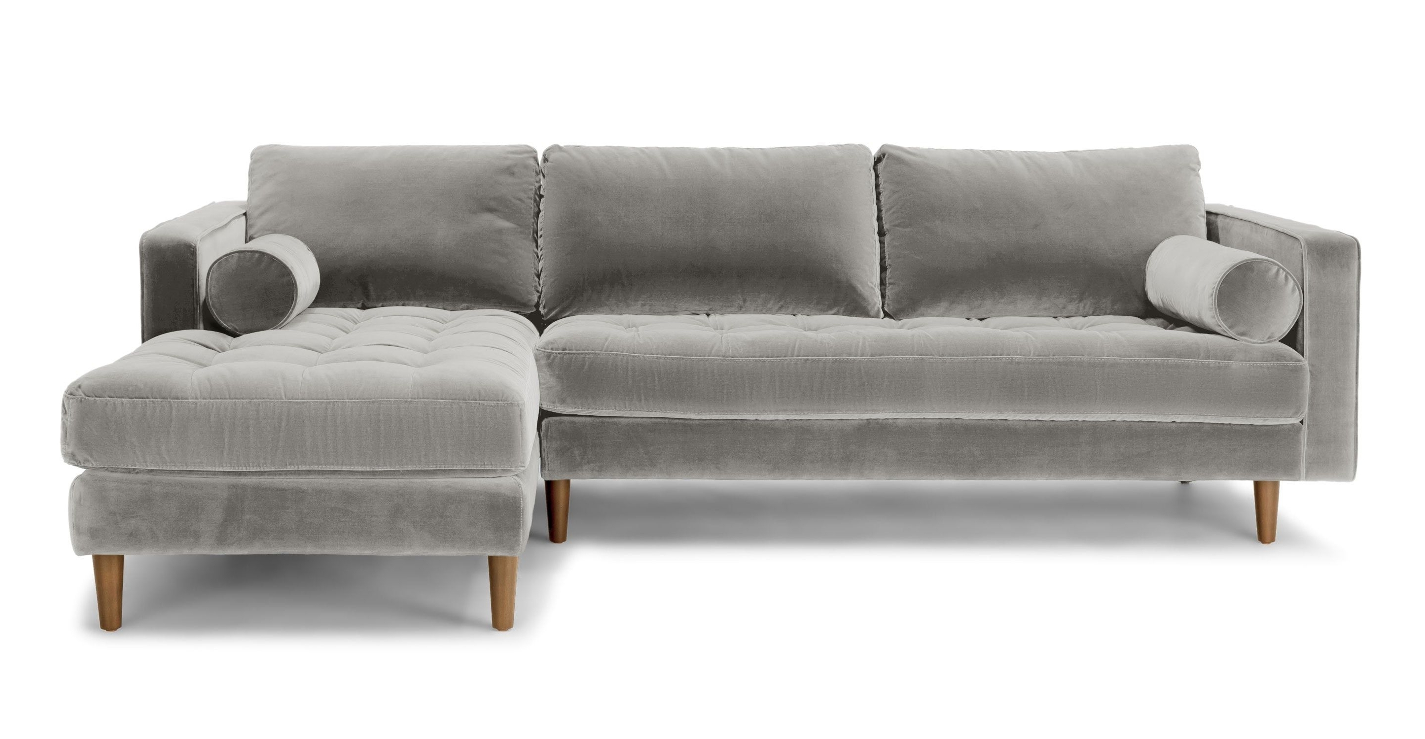 Abbieht Chaise Sectional Sofa With Large Cushionsengland Ivy Inside Well Known Regina Sectional Sofas (View 6 of 15)