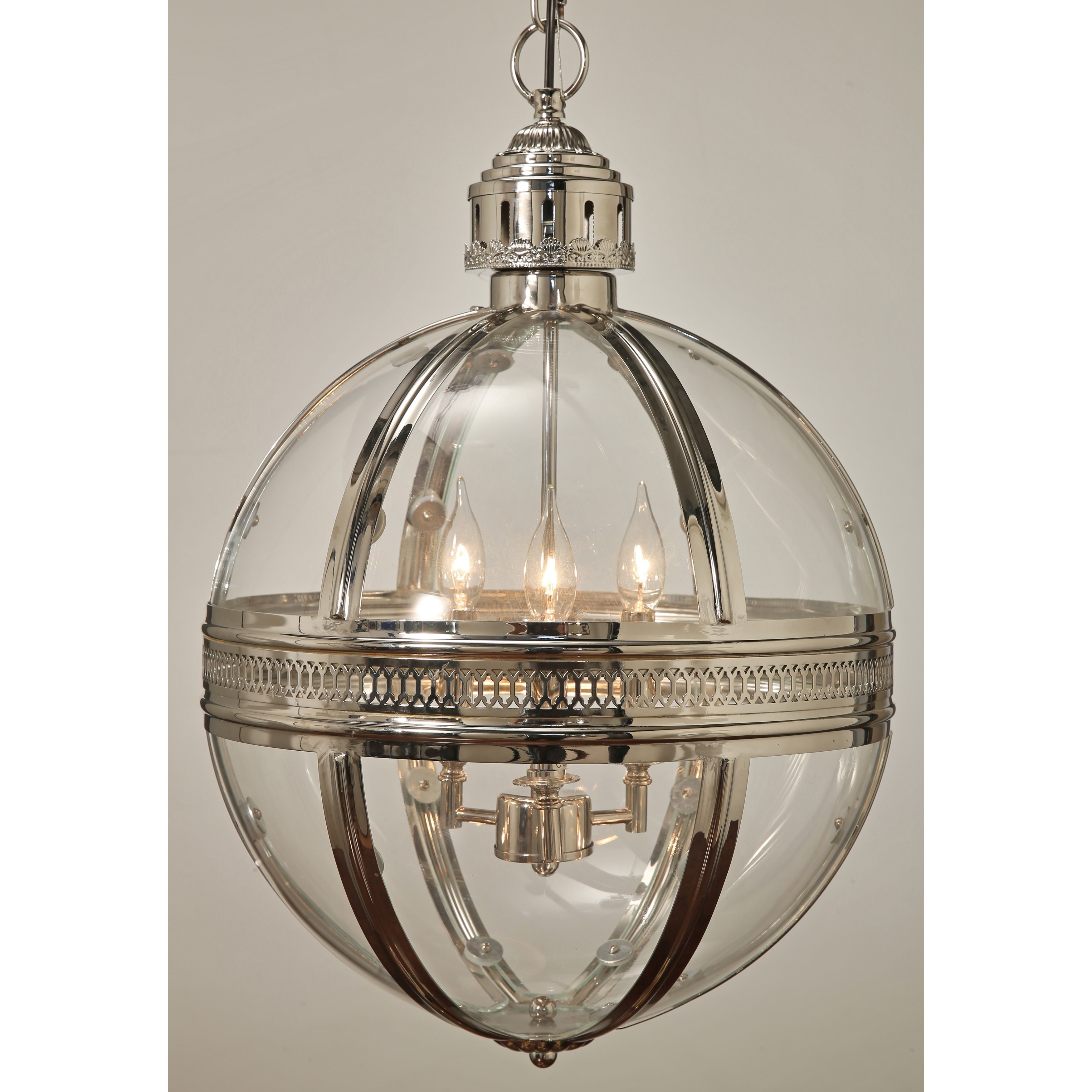 Abbyson Bentley Glass Globe Chandelier – Free Shipping Today For Most Current Chandelier Globe (View 6 of 15)