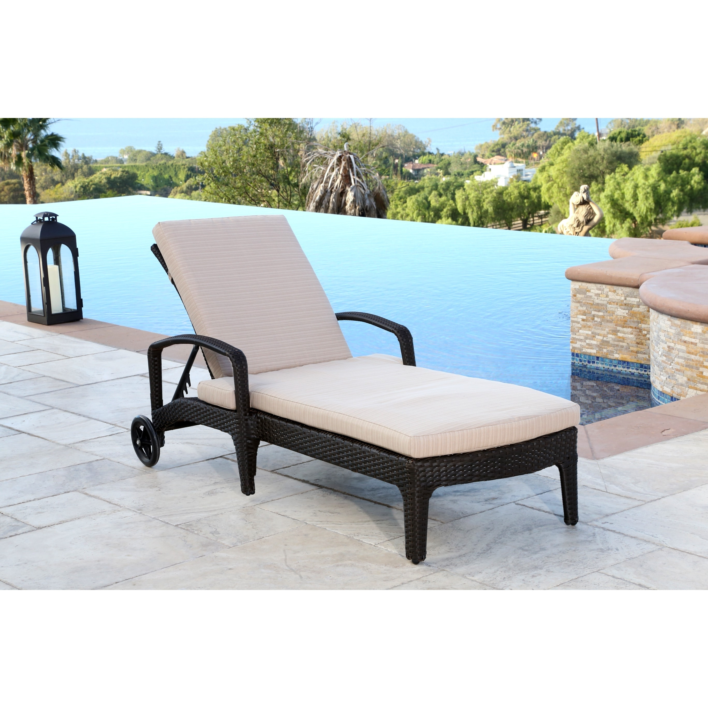 Abbyson Newport Outdoor Wicker Chaise Lounge – Free Shipping Today Throughout Most Up To Date Newport Chaise Lounge Chairs (View 1 of 15)