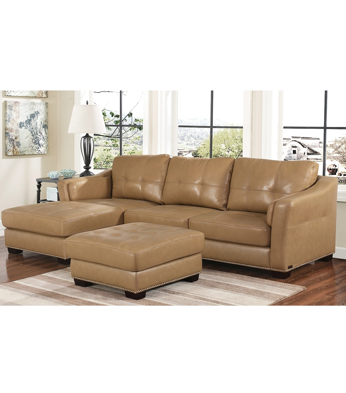 Abbyson Sectional Sofas Inside Widely Used Sectionals : Chelsie Leather Sectional (View 6 of 15)