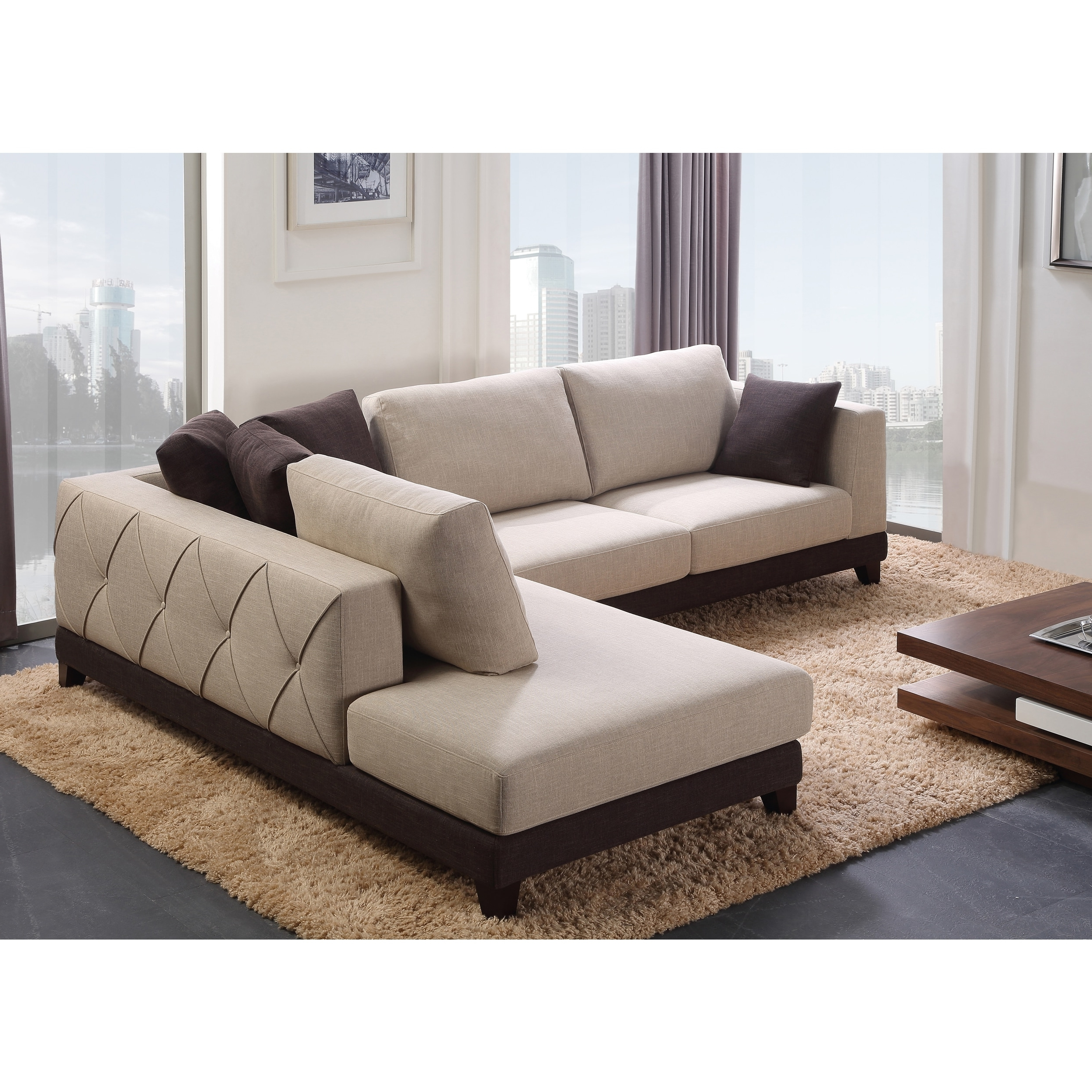 Abbyson Sectional Sofas Throughout Most Popular Abbyson 'verona' Fabric Sectional Sofa – Free Shipping Today (View 12 of 15)