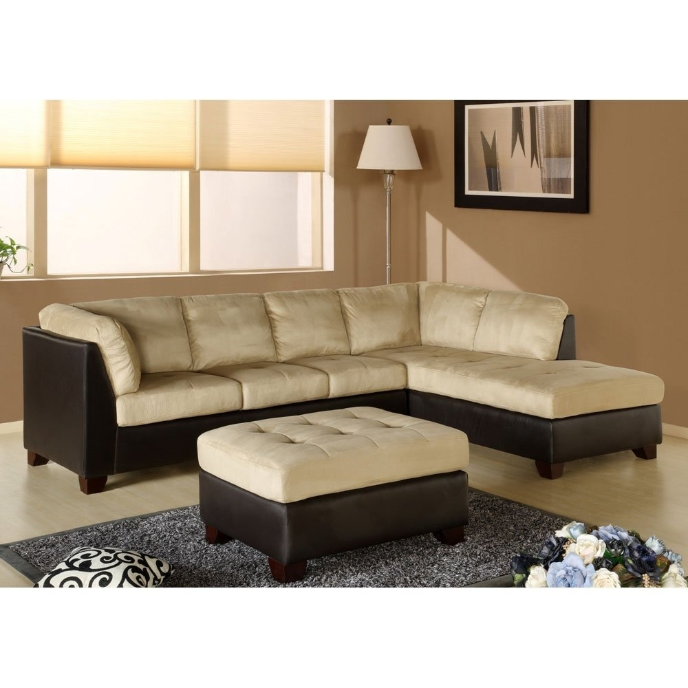 Abbyson Sectional Sofas Within Famous Amazon: Charlotte Sectional Sofa And Ottoman In Beige (View 7 of 15)