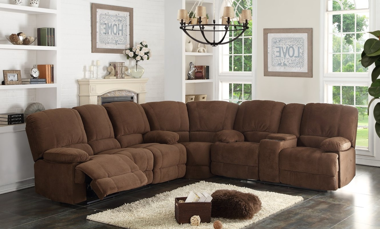 Ac Pacific Kevin Reclining Sectional & Reviews (View 3 of 15)