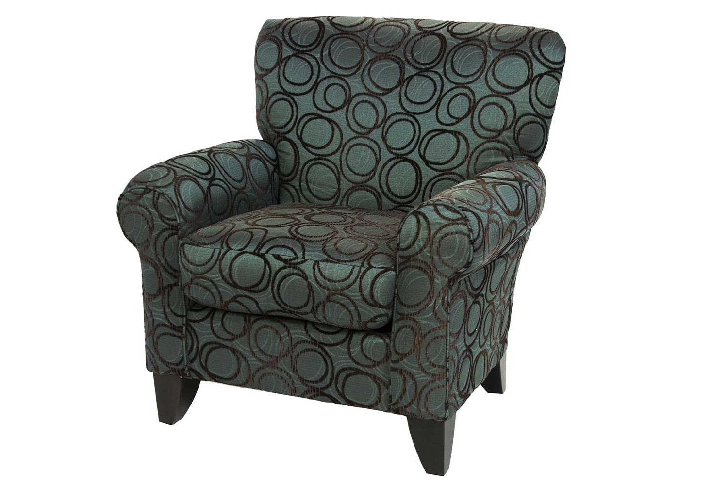 Accent Sofa Chairs Pertaining To Preferred Napa Chocolate Accent Chair (View 9 of 15)