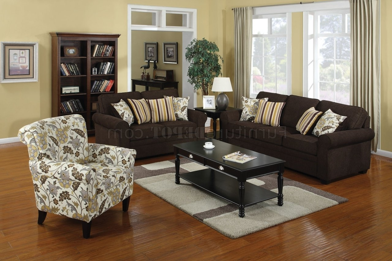 Accent Sofa Chairs With Latest 504241 Rosalie Sofa In Dual Colored Fabriccoaster W/options (View 4 of 15)