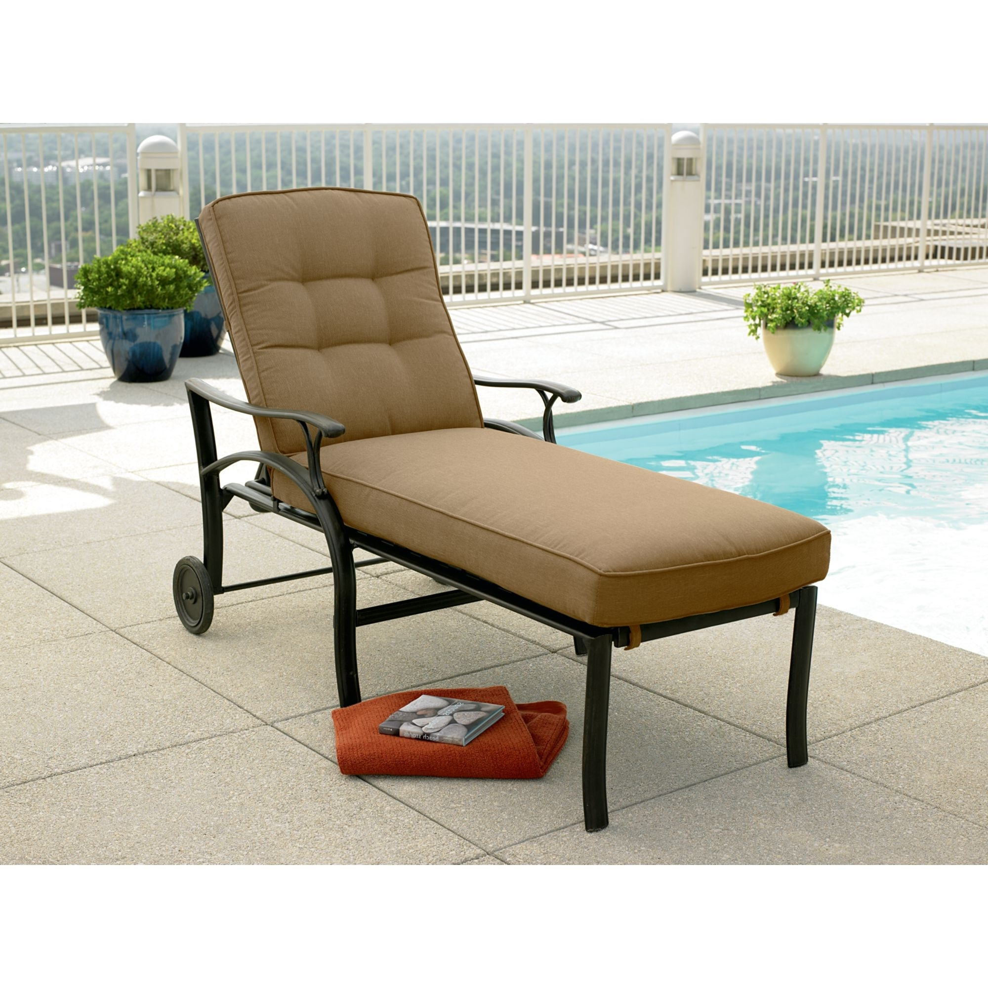 Adelaide Chaise Lounge Chairs With Recent Furniture: Patio Chaise Lounge Chairs Walmart Lounges With Pool (View 3 of 15)