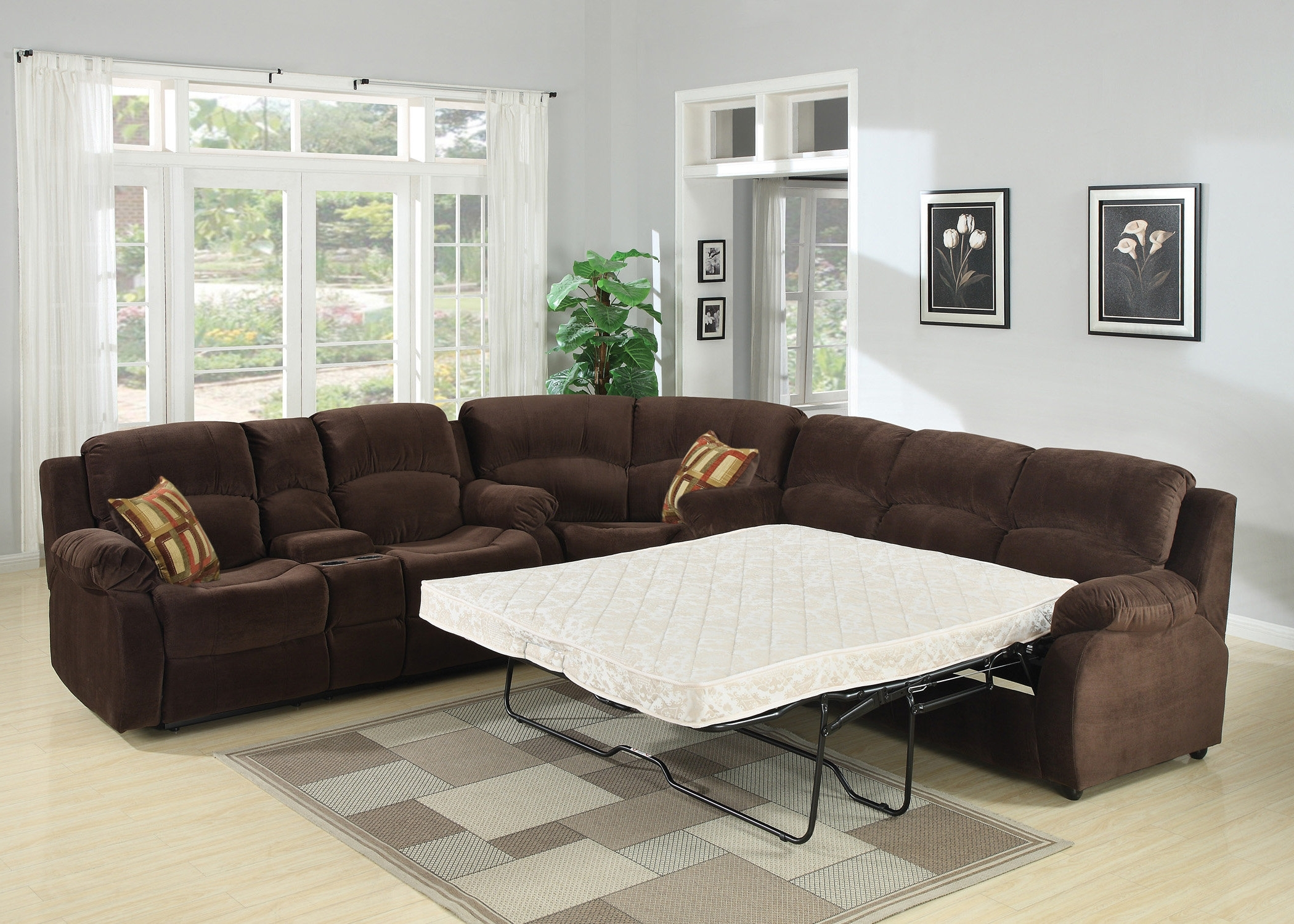 Adjustable Sectional Sofas With Queen Bed For Most Recent Sleeper Sectional Sofas You'll Love (View 2 of 15)