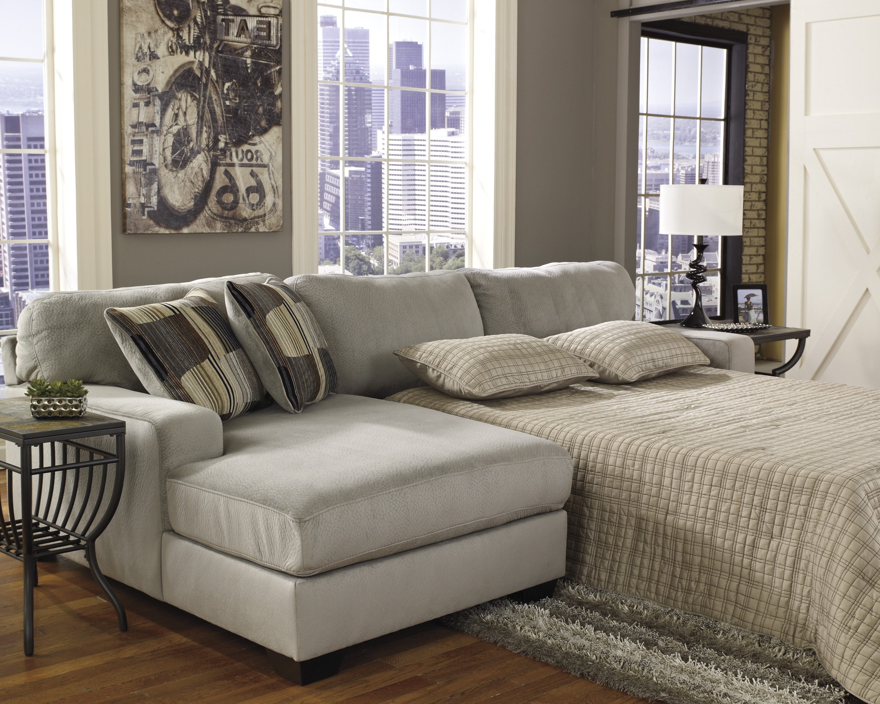 Adjustable Sectional Sofas With Queen Bed Intended For Current Sofa : Wonderful Sectional Sofa Queen Bed Russ Sectional Sofa (View 6 of 15)