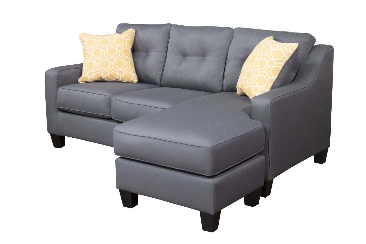 Aldie Gray Sofa Chaise (View 9 of 15)