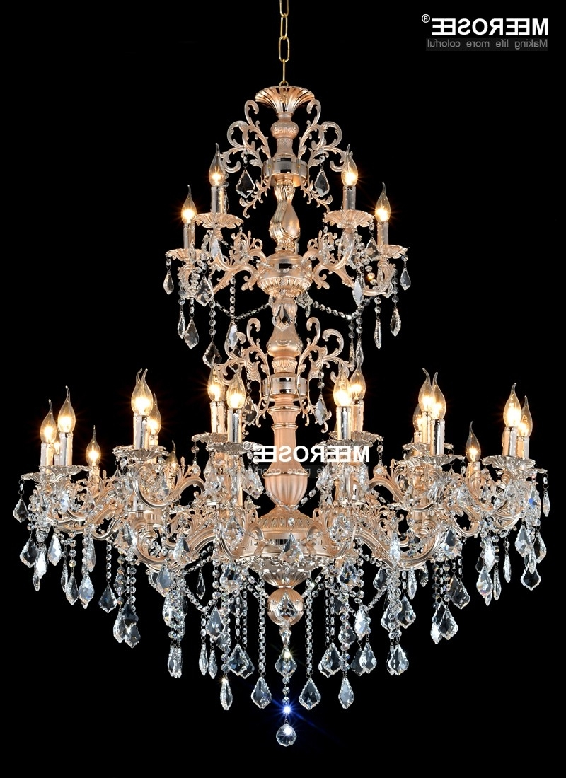 Aliexpress : Buy Modern Large Crystal Chandelier Lamp Luxurious Throughout Most Popular Chandelier For Restaurant (View 1 of 15)