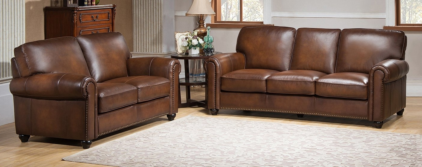 Amax Aspen 2 Piece Leather Living Room Set & Reviews (View 14 of 15)