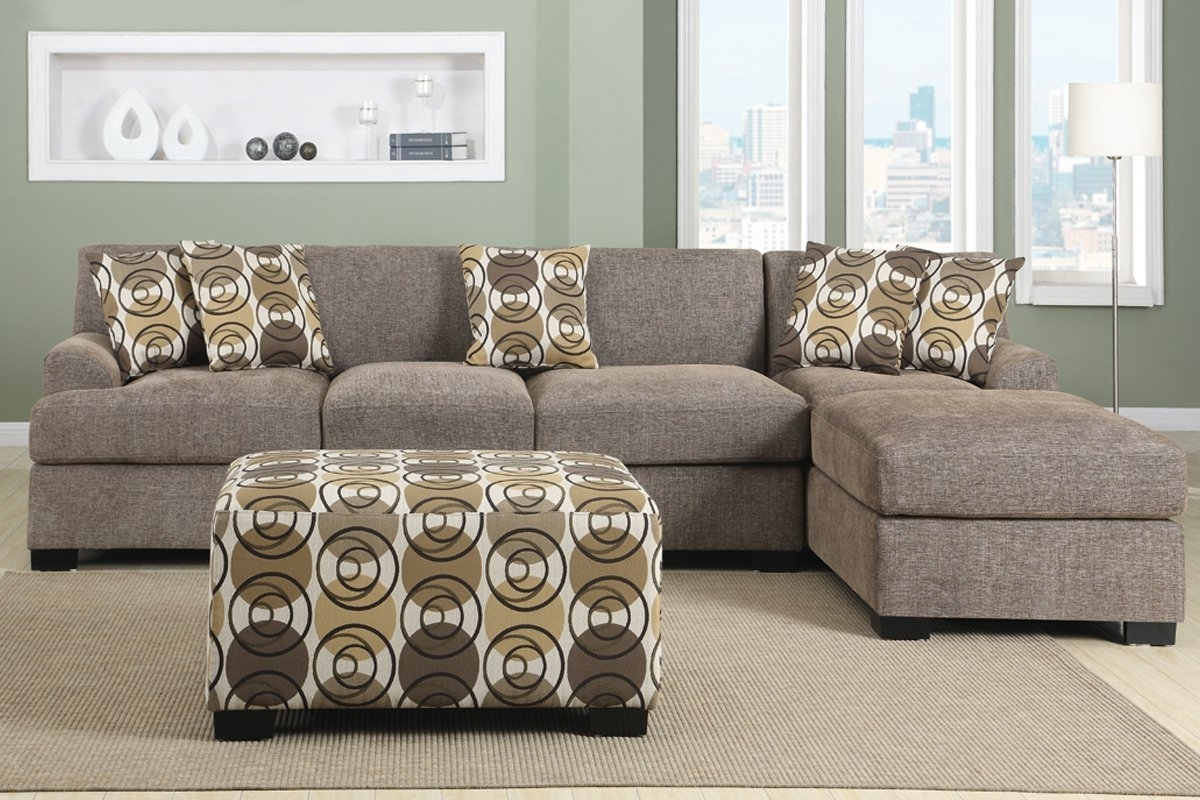 Amazon: 3 Pieces Faux Linen Sectional Sofa With Ottoman (Slate With Current 2 Piece Sectionals With Chaise Lounge (View 12 of 15)