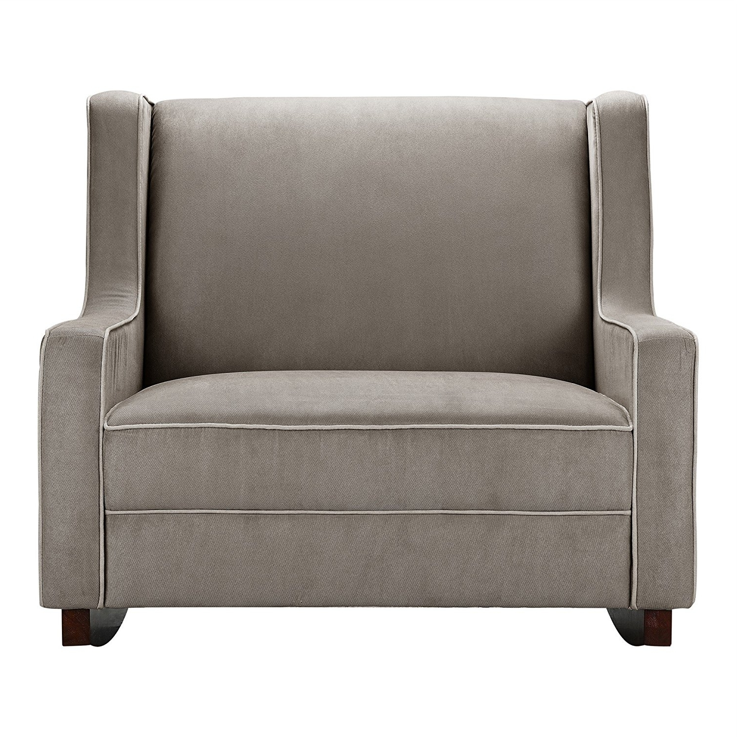 Amazon : Baby Relax Double Rocker, Dark Taupe : Baby For Recent Rocking Sofa Chairs (View 2 of 15)