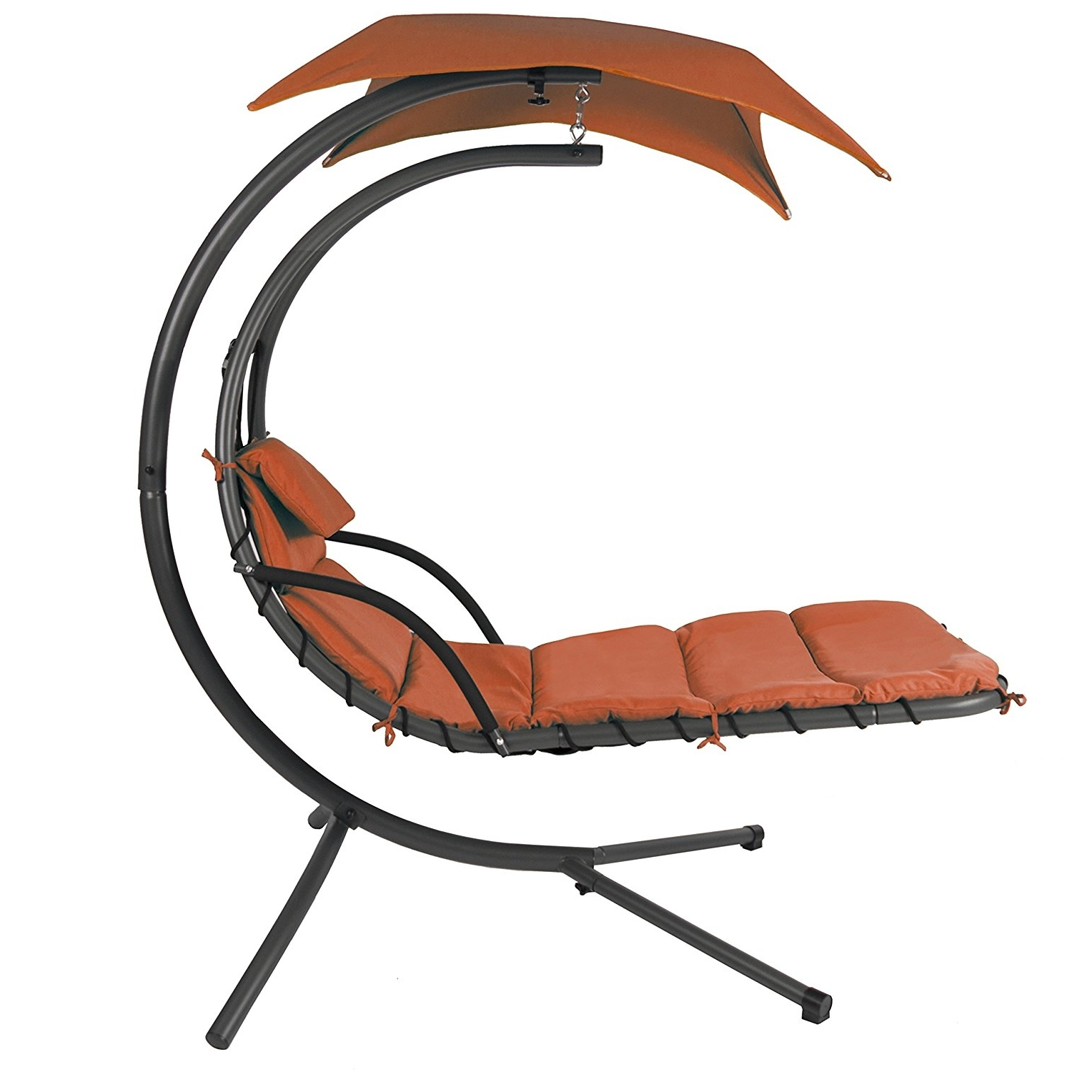 Amazon : Best Choice Products Orange Color Handing Chair Intended For Most Recent Chaise Lounge Swing Chairs (View 1 of 15)