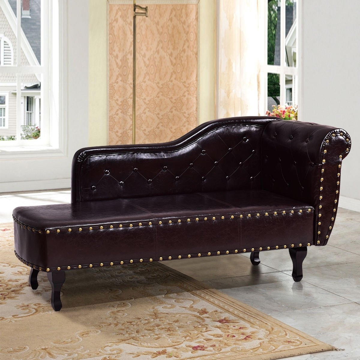 Amazon: Black Storage Chaise Lounge Sofa Chair Couch For Your Throughout Fashionable Couch Chaise Lounges (View 8 of 15)