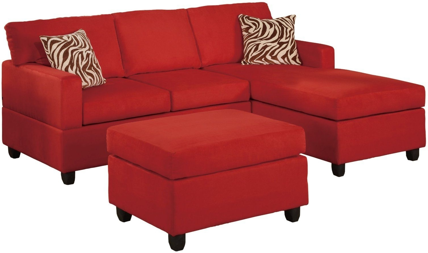 Amazon – Bobkona Manhattan Reversible Microfiber 3 Piece Pertaining To Well Liked Red Sectional Sofas With Ottoman (View 5 of 15)