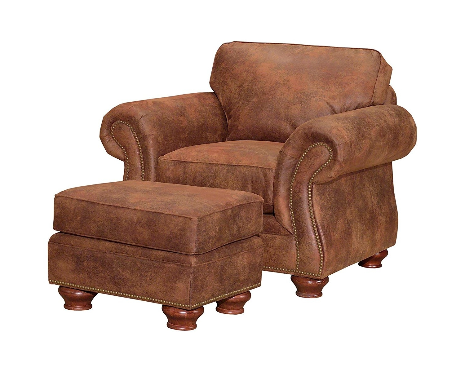 Amazon: Broyhill Laramie Chair, Chocolate: Kitchen & Dining Inside Well Known Chairs With Ottoman (View 8 of 15)