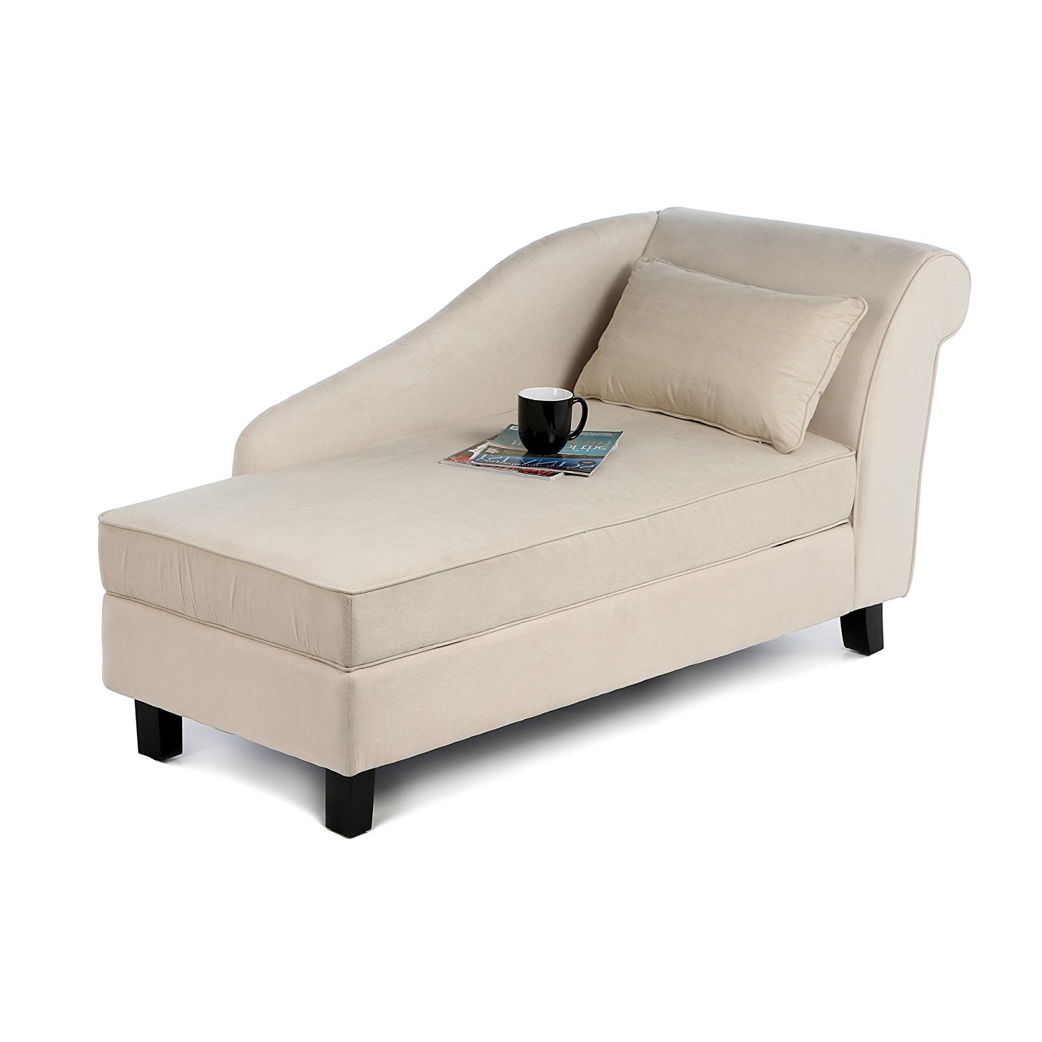 Amazon: Castleton Home Storage Chaise Lounge Modern Long Chair With Well Known Storage Chaise Lounges (View 3 of 15)