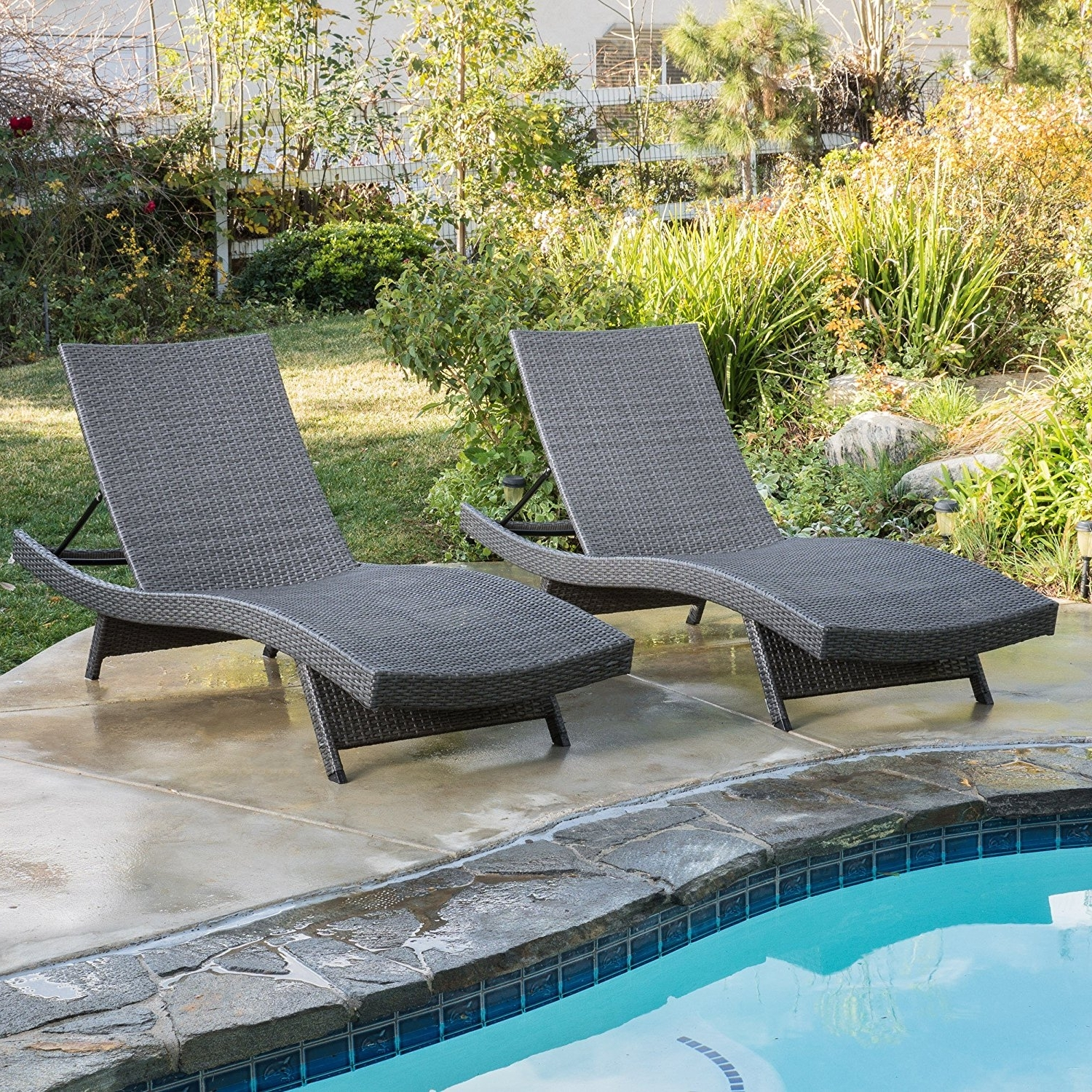 Amazon: Christopher Knight Home 662 Salem Chaise Outdoor In Popular Luxury Outdoor Chaise Lounge Chairs (View 2 of 15)