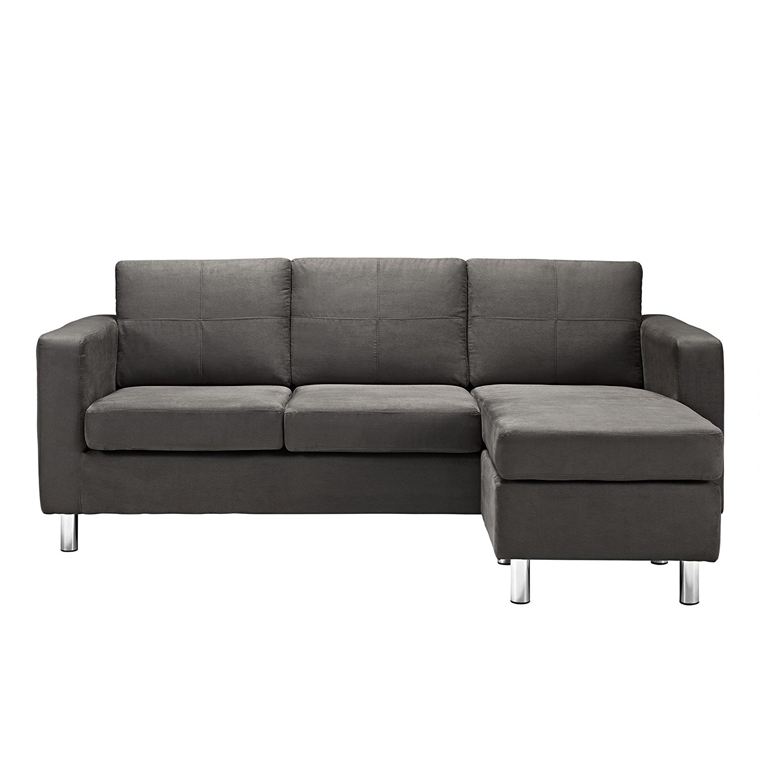 Amazon: Dorel Living Small Spaces Configurable Sectional Sofa Throughout Current Sectional Sofas At Amazon (View 2 of 15)